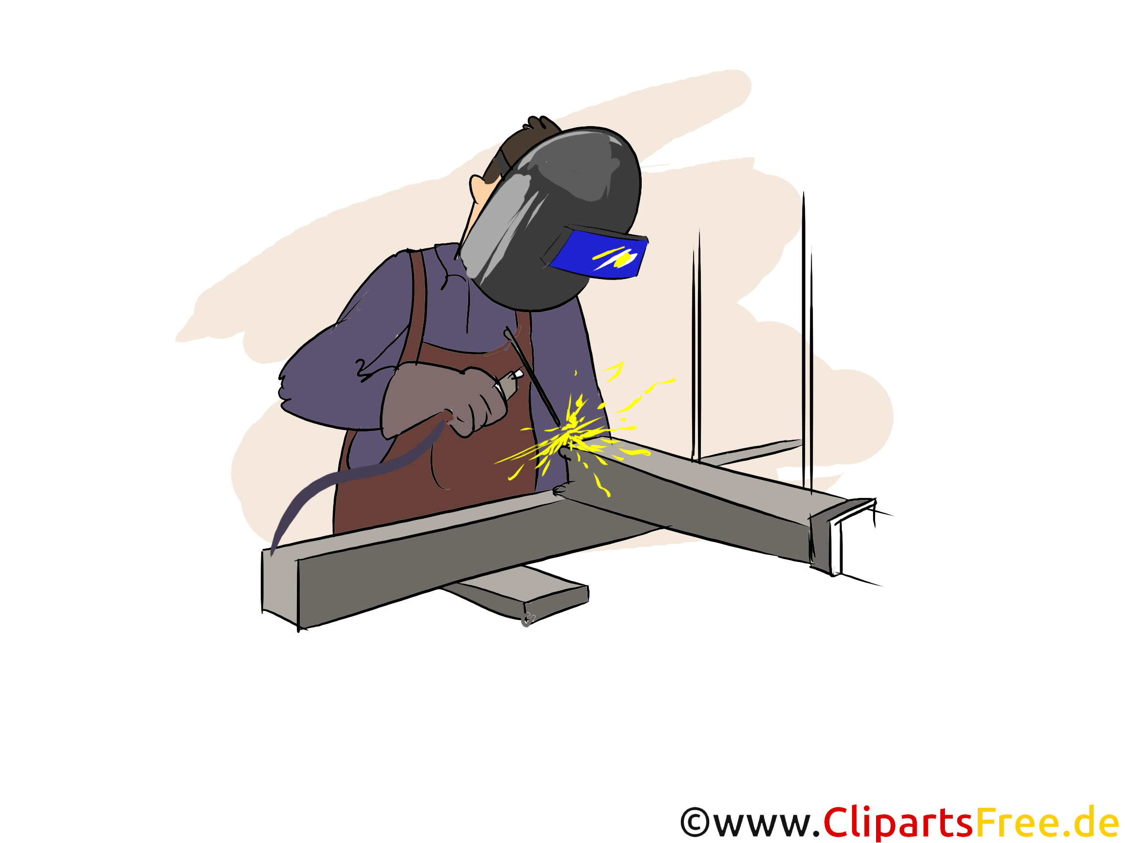 Konstruktionsmechaniker  Schweißtechnik Clipart, Bild, Grafik zum Thema Ausbildungsberufe