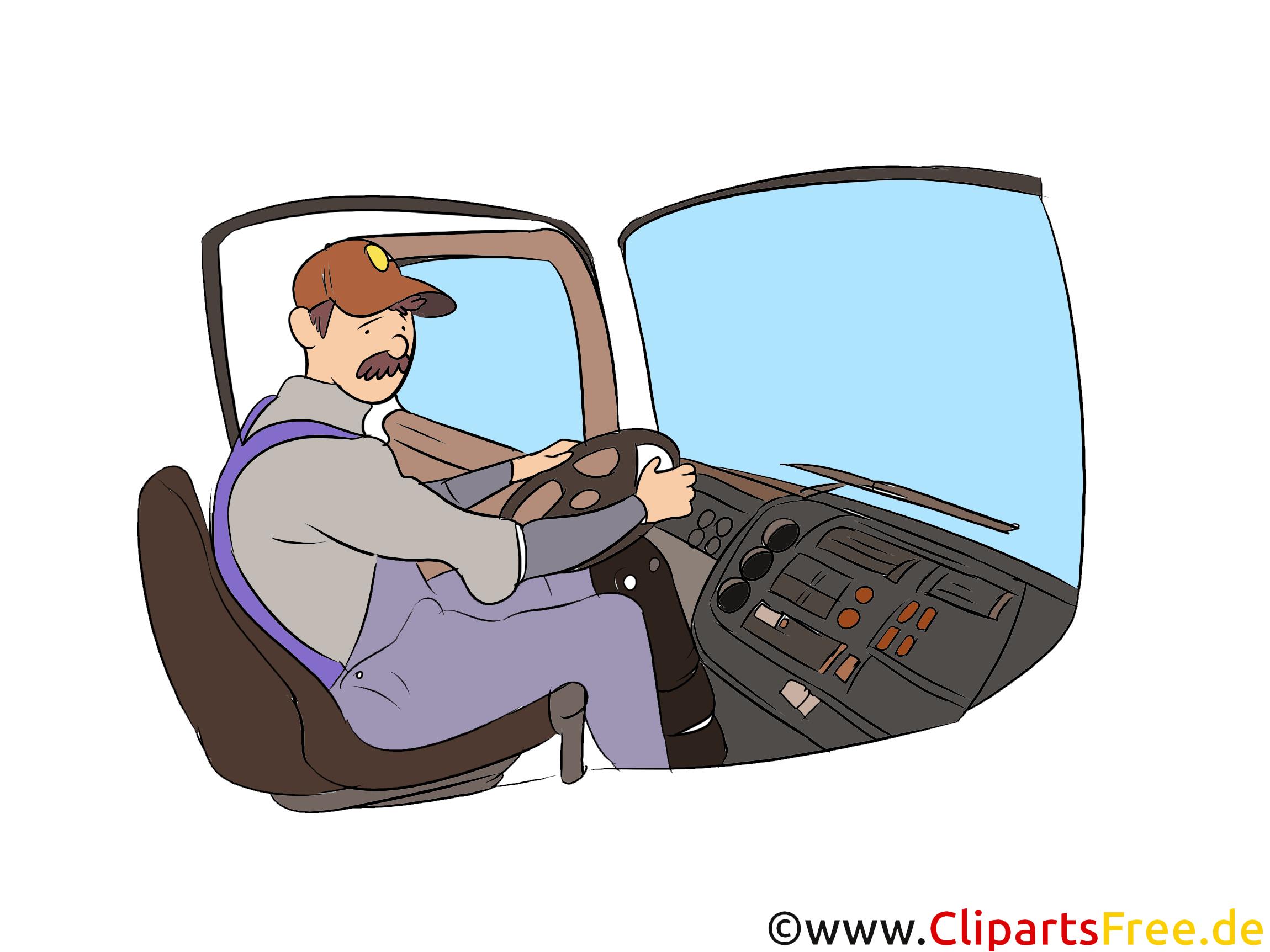 LKW-Fahrer Clipart, Bild, Grafik zum Thema Ausbildungsberufe