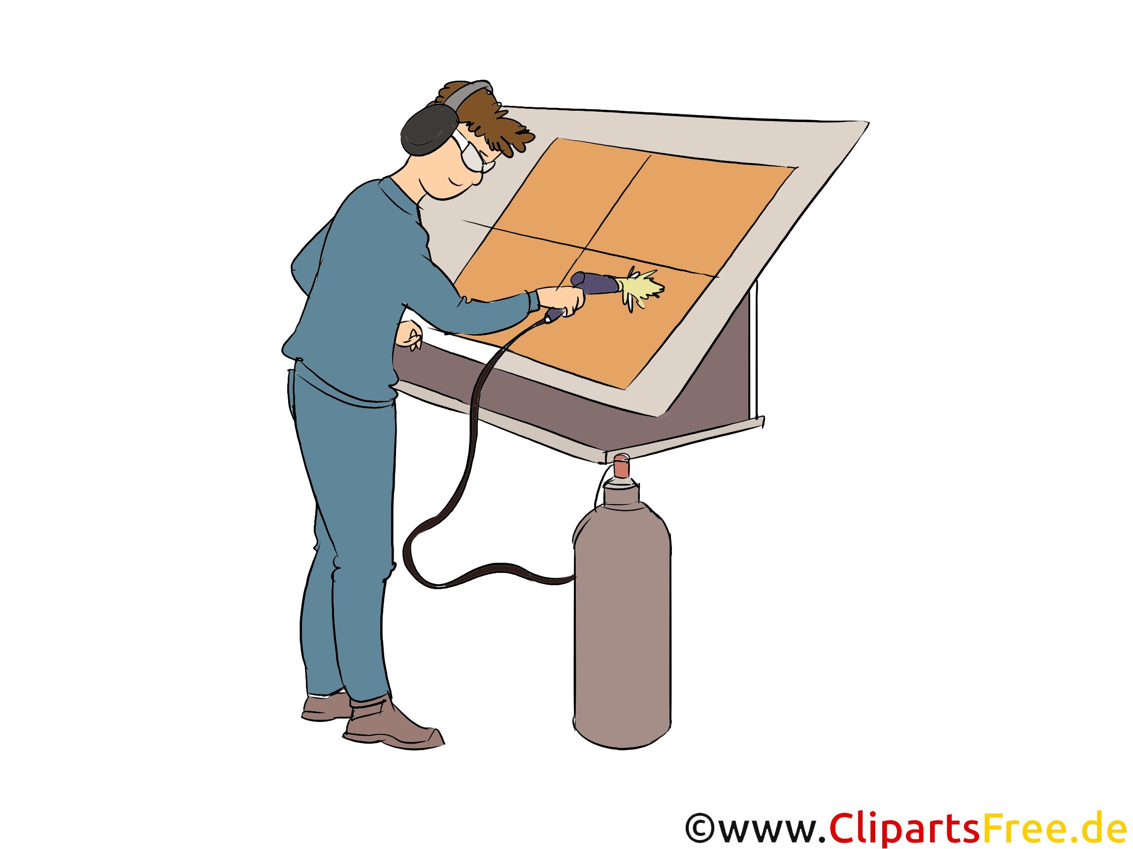 Oberflächenbeschichter Clipart, Bild, Grafik zum Thema Ausbildungsberufe (3)