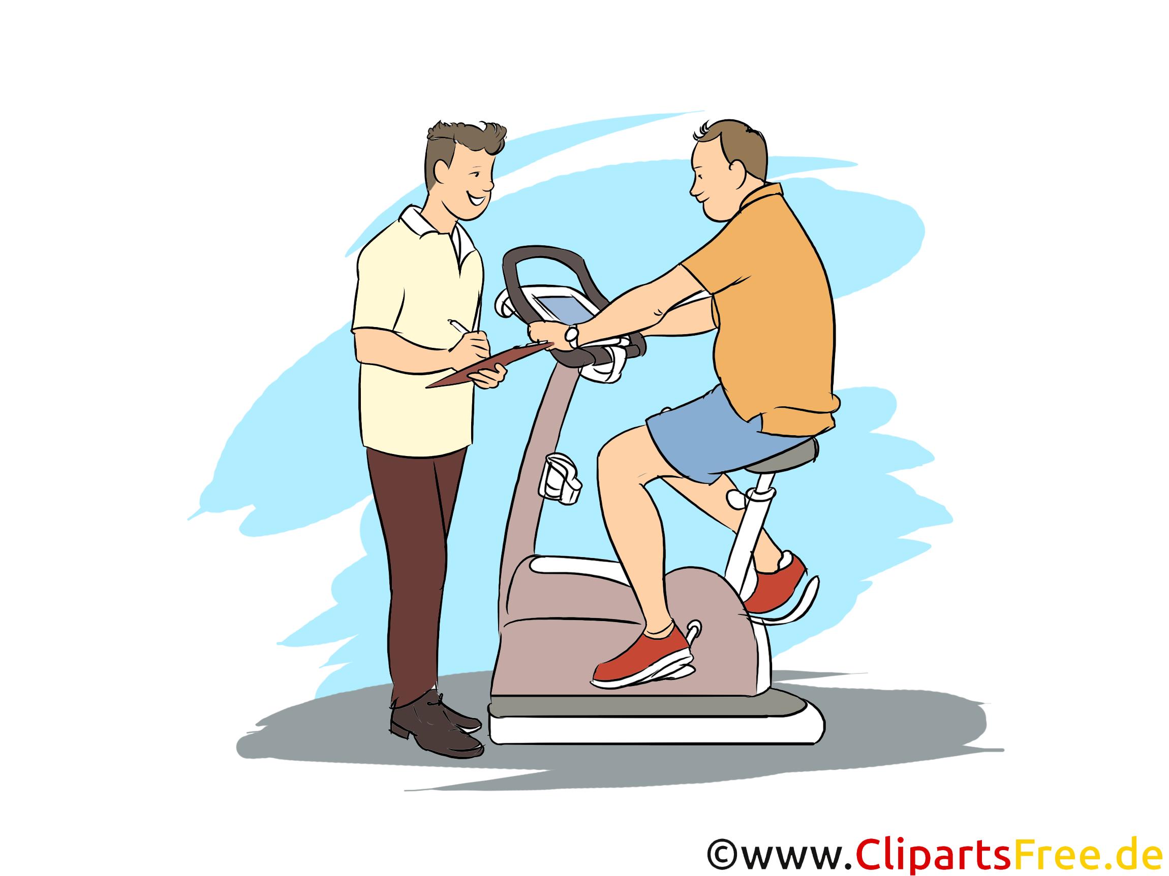 Sportfachmann Clipart, Bild, Grafik zum Thema Ausbildungsberufe