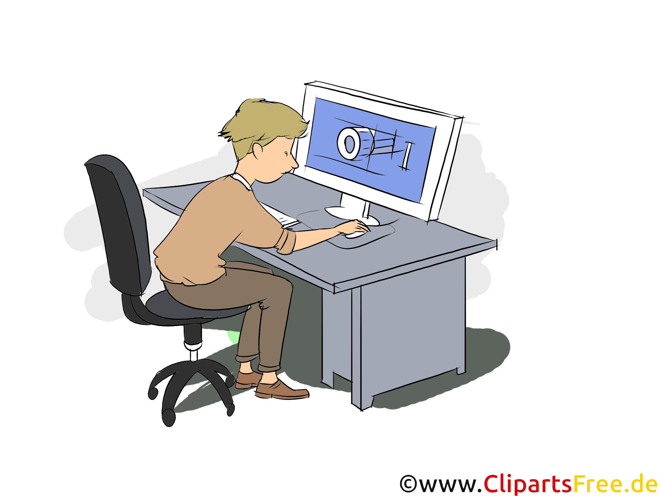 Technische Produktdesigner Clipart, Bild, Grafik zum Thema Ausbildungsberufe