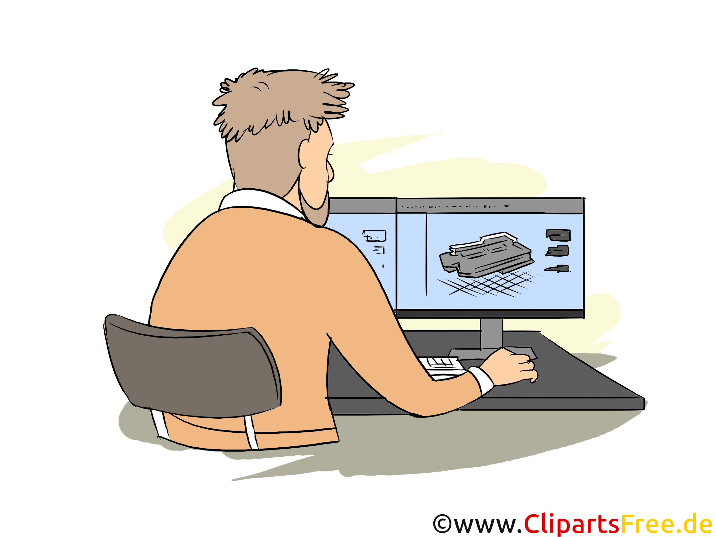 Technischer Systemplaner Ausbildung Clipart, Bild, Illustration