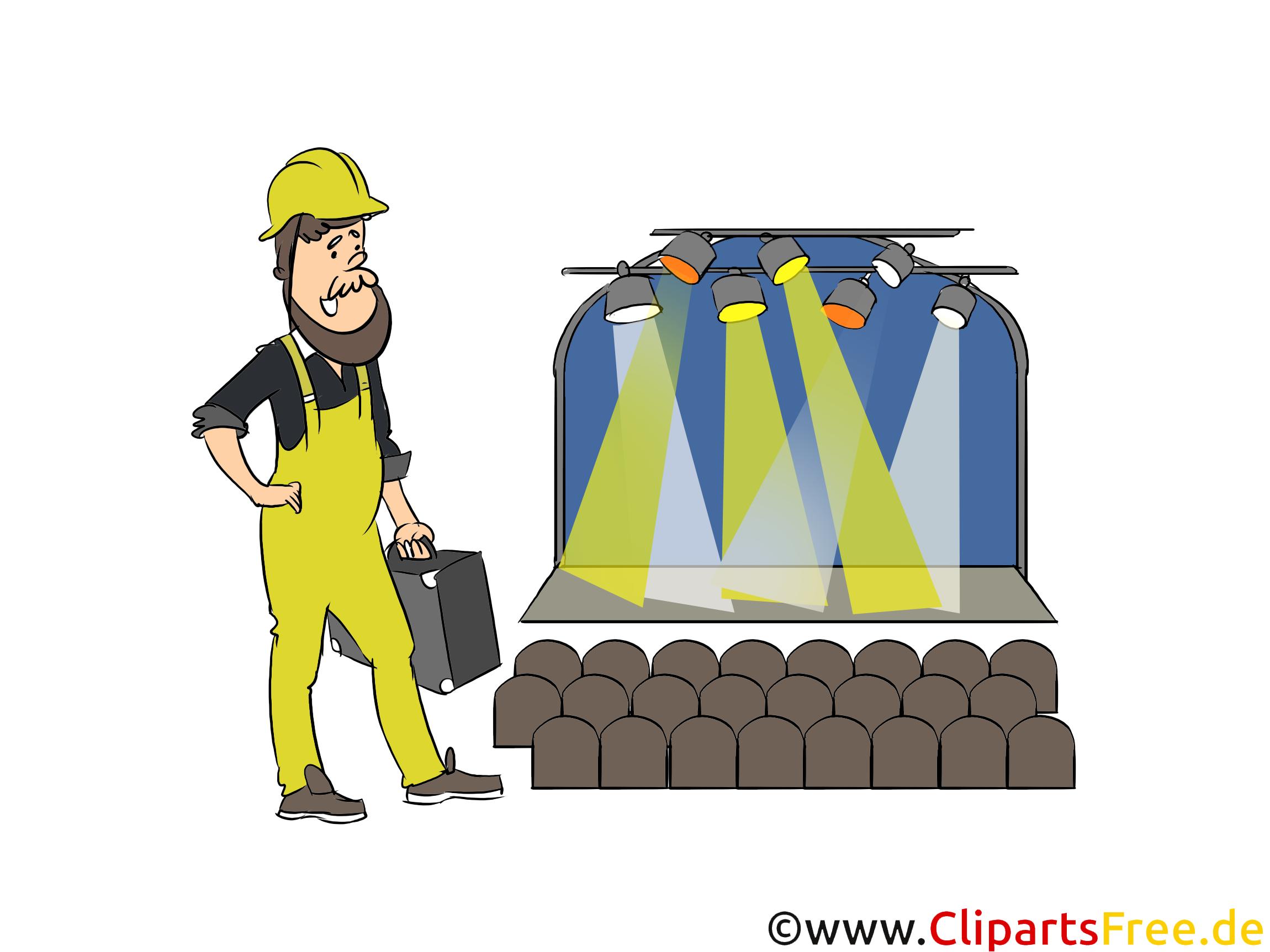 Veranstaltungstechnik Clipart, Bild, Grafik zum Thema Ausbildungsberufe