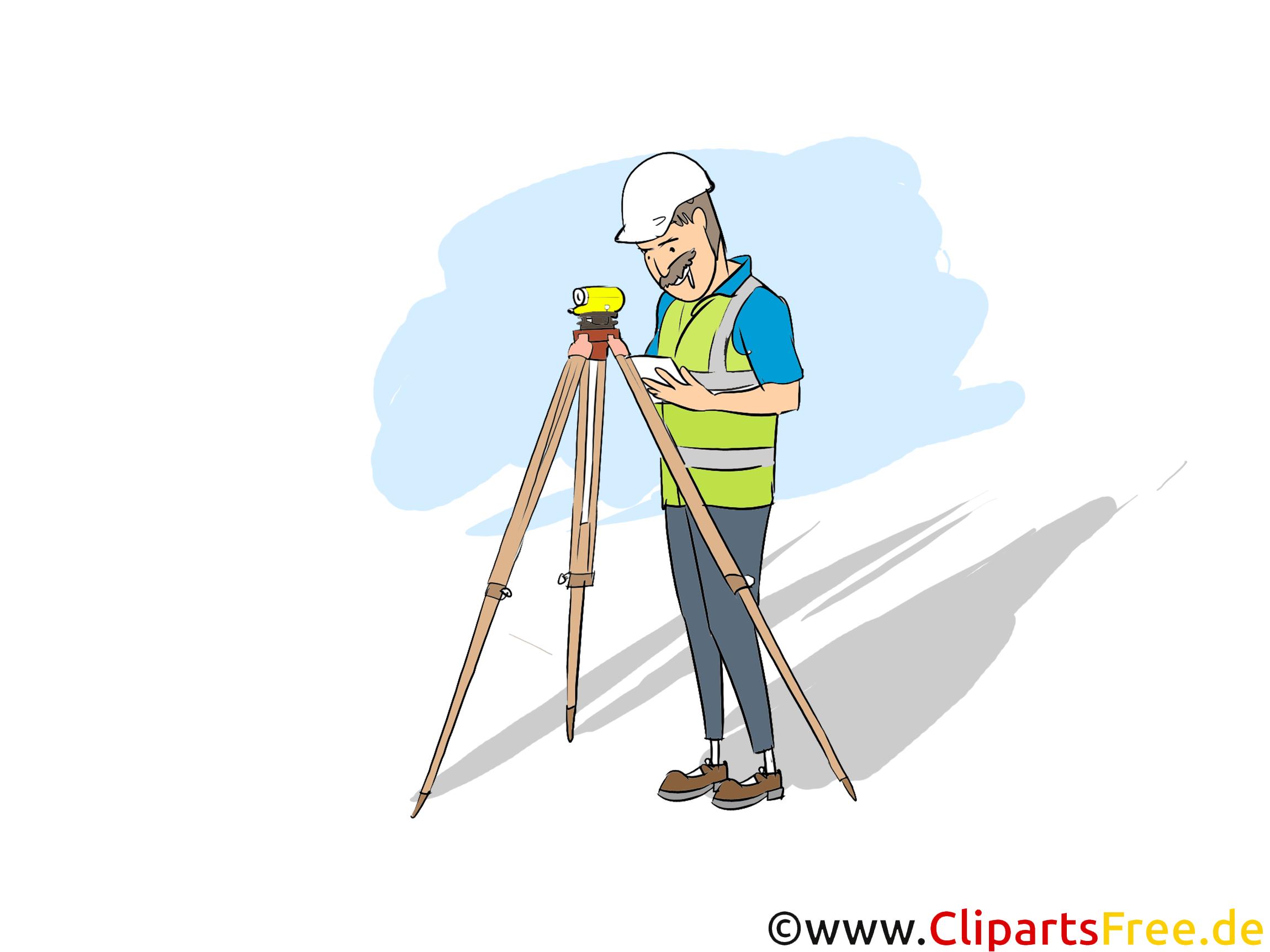 Vermessungstechniker Clipart, Bild, Grafik zum Thema Ausbildungsberufe