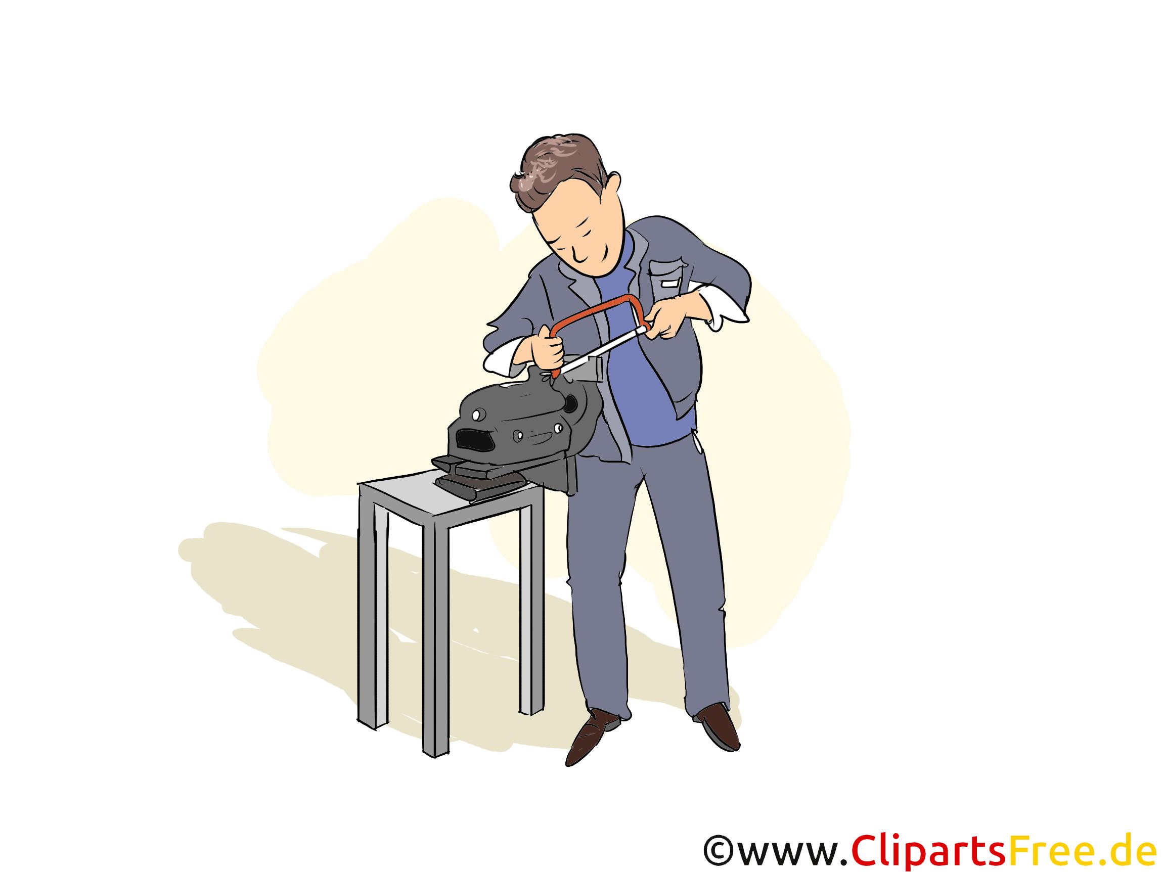 Werkzeugmechaniker Clipart, Bild, Grafik zum Thema Ausbildungsberufe