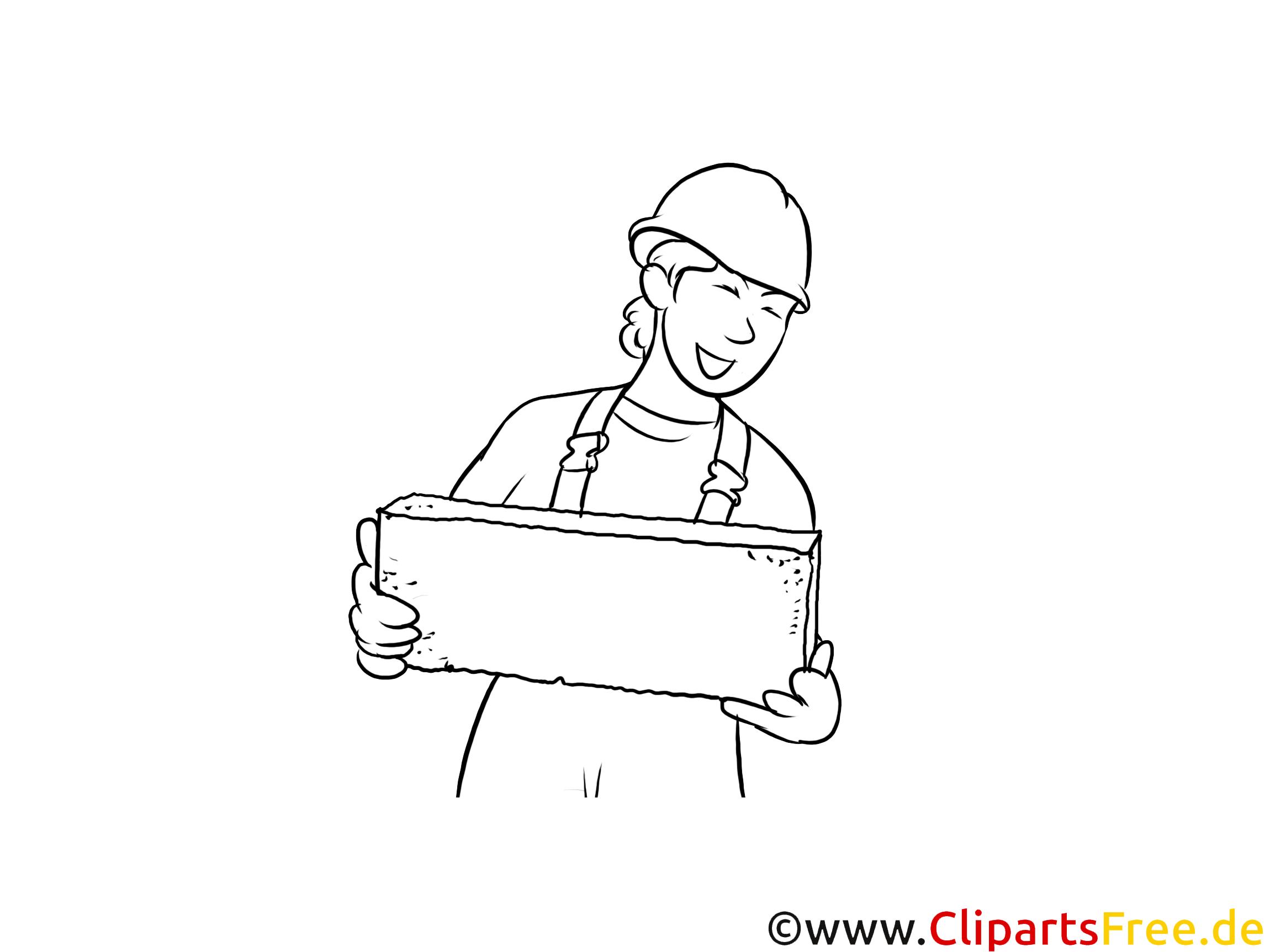 Baustoffprüfer druckbare schwarz-weiße Cliparts, Grafiken kostenlos