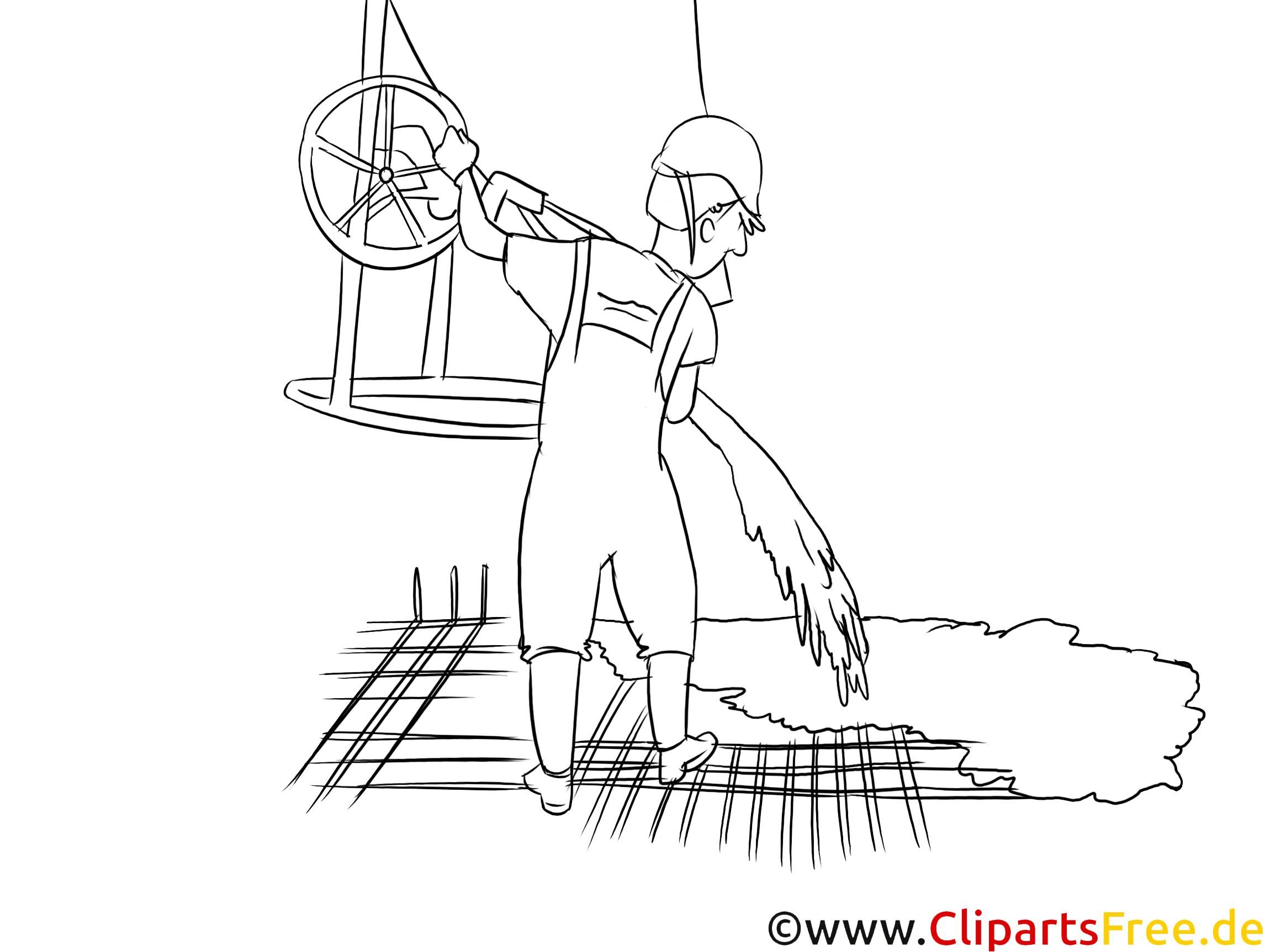 Beton- und Stahlbauer Clipart schwarz weiß