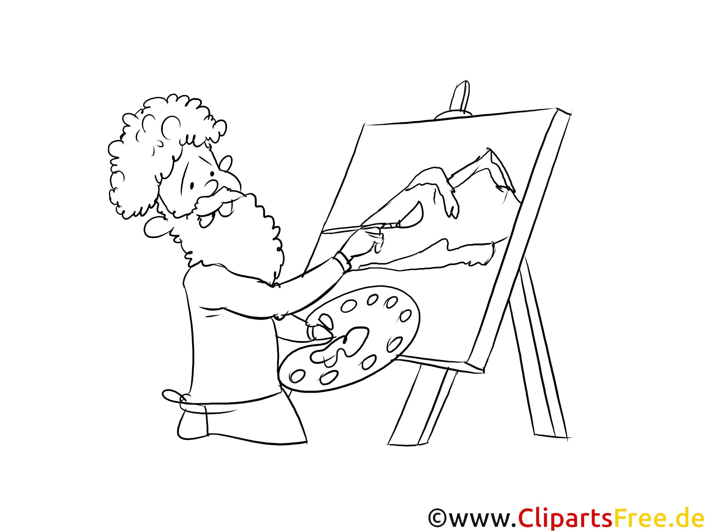 Clipart, Grafik, Bild schwarz-weiß Künstler