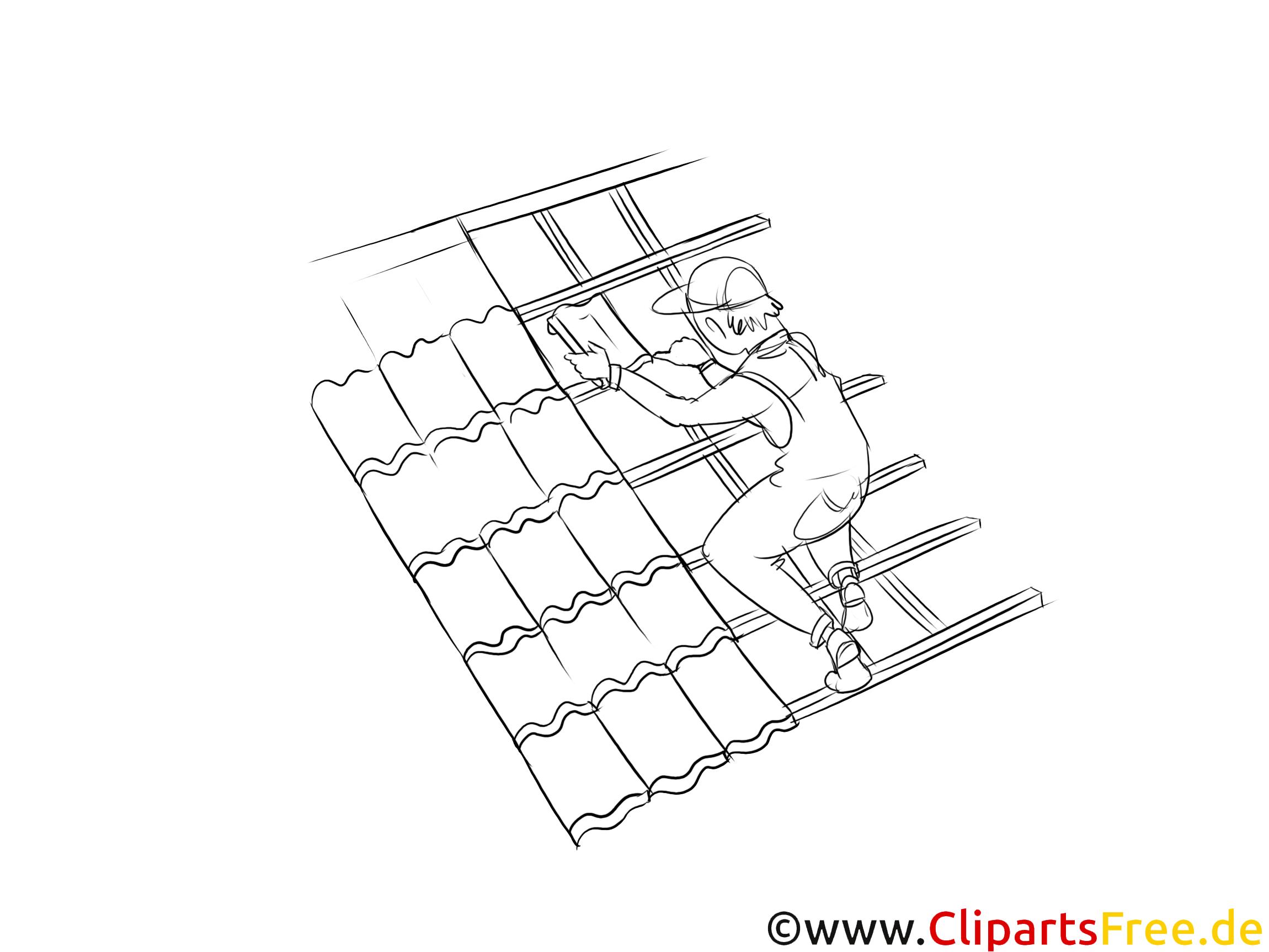 Dachdecker Clipart Schwarzweiß kostenlos