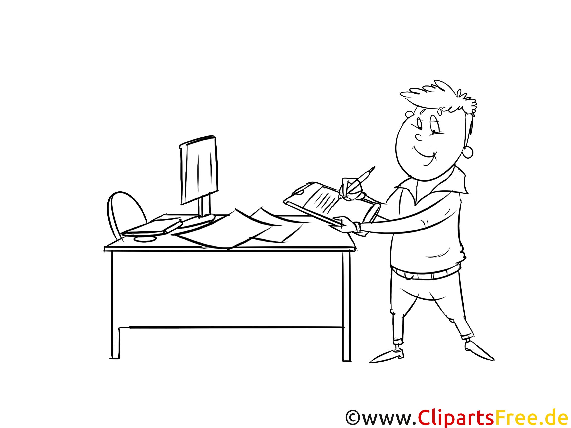 Fachmann Clipart schwarz weiß zum Thema Ausbildungsberufe