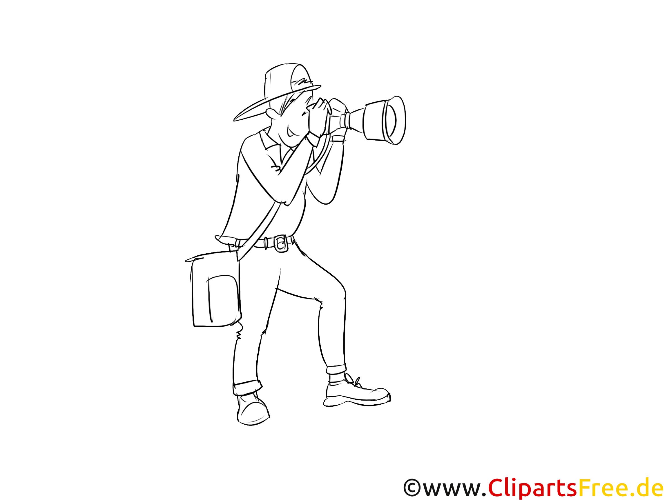 Fotograf-Freelancer Clipart, Grafik, Bild schwarz-weiß
