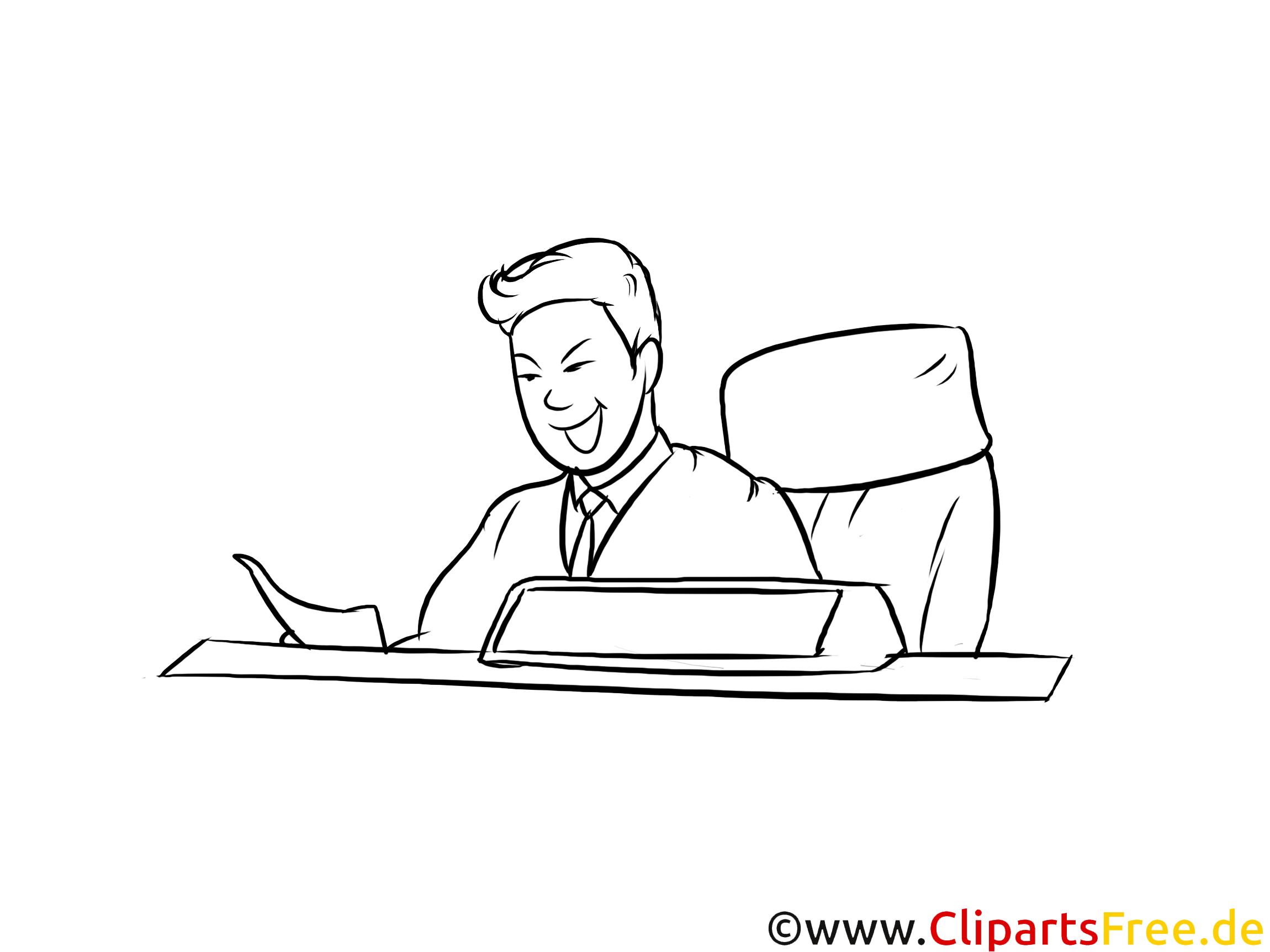 Justizfachangestellter druckbare schwarz-weiße Cliparts, Grafiken kostenlos