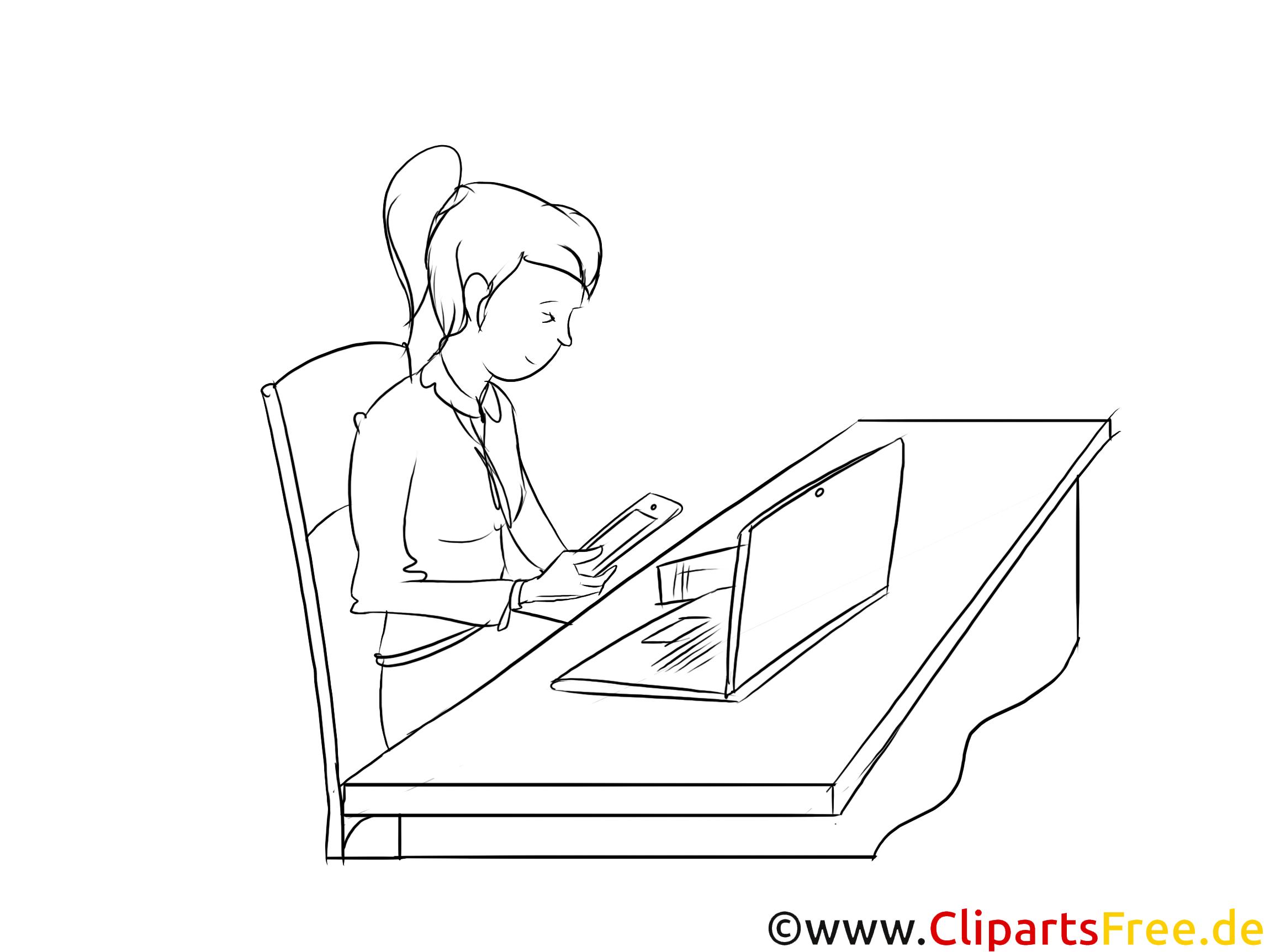 Kaufmann für Marketingkommunikation Clipart, Grafik, Bild schwarz-weiß