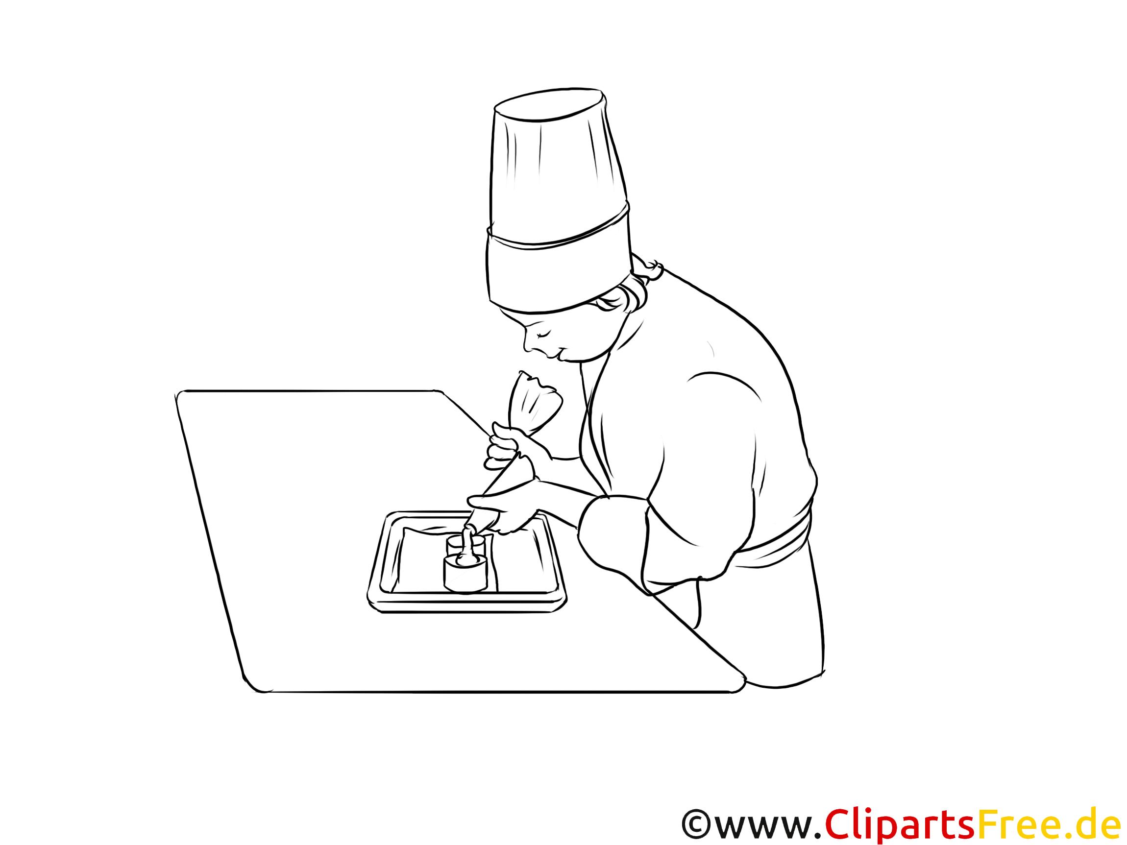 Konditoreifachverkäuferin Bild, Grafik schwarz-weiß