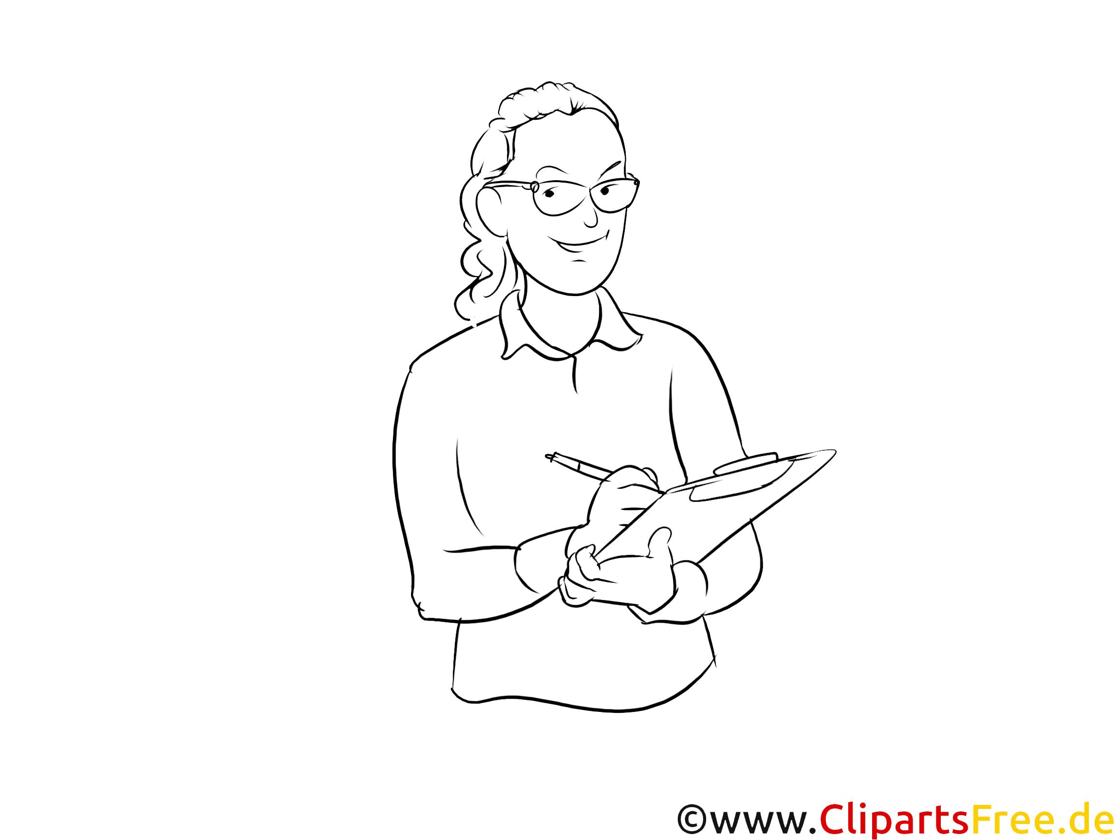 Krankenschwester schwarz weiße Strichzeichnungen, Bilder, Cliparts zum Thema Berufe
