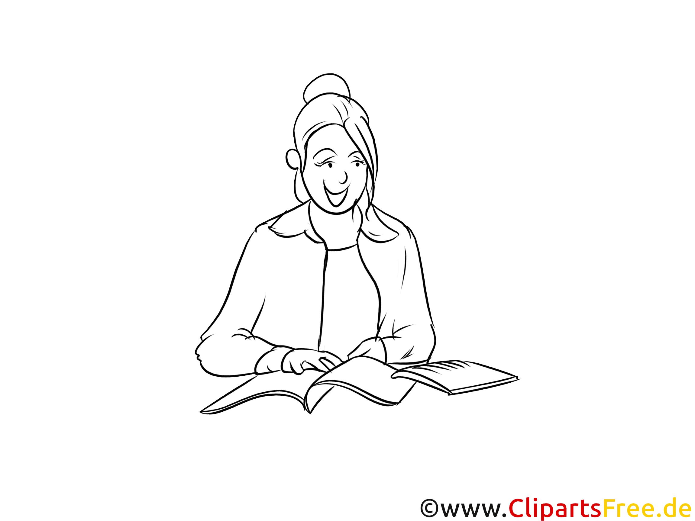 Lehrerin schwarz-weiße Cliparts, Bilder