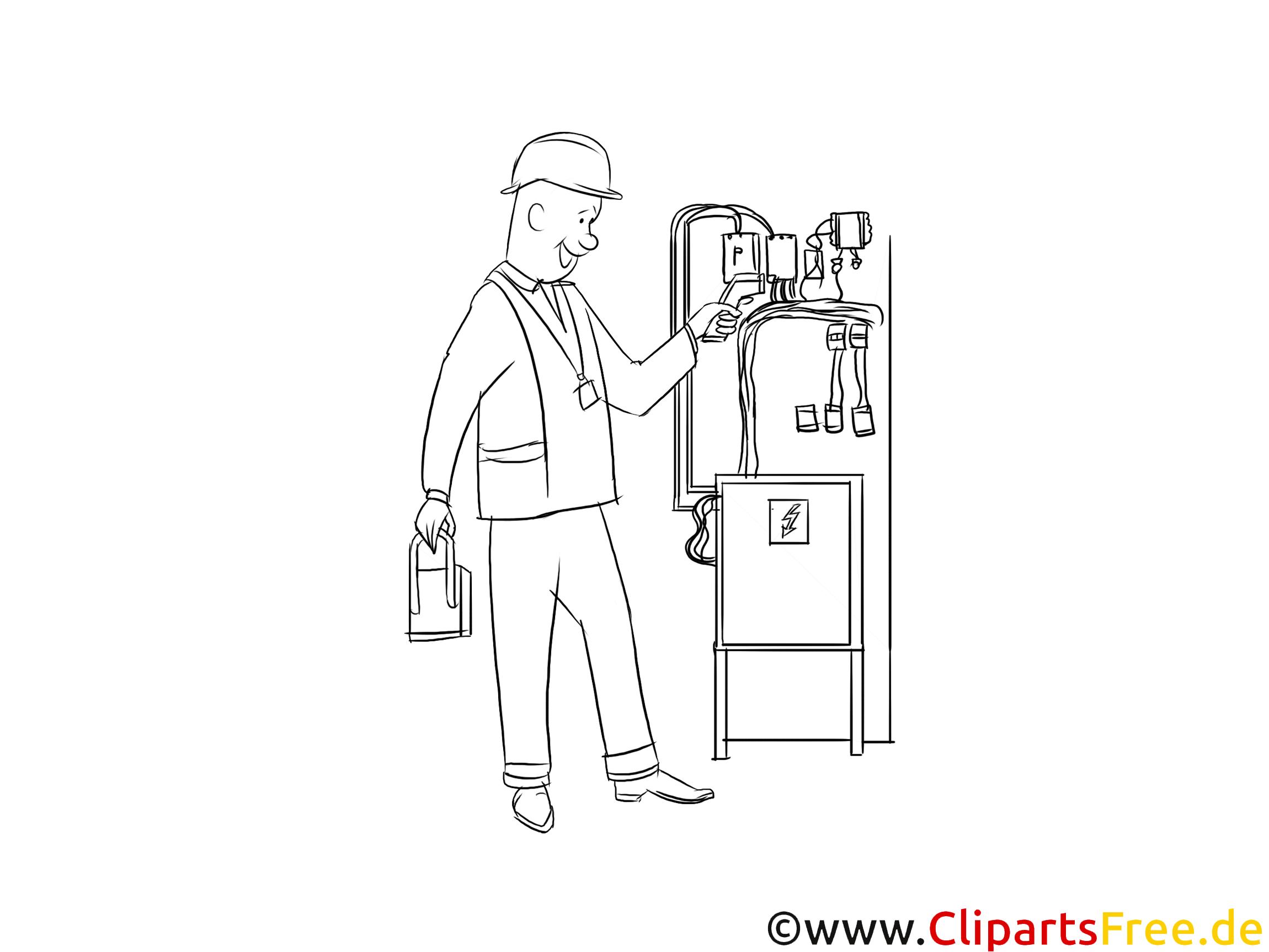 Mechatroniker, Anlagenmechaniker Clipart Schwarzweiß kostenlos