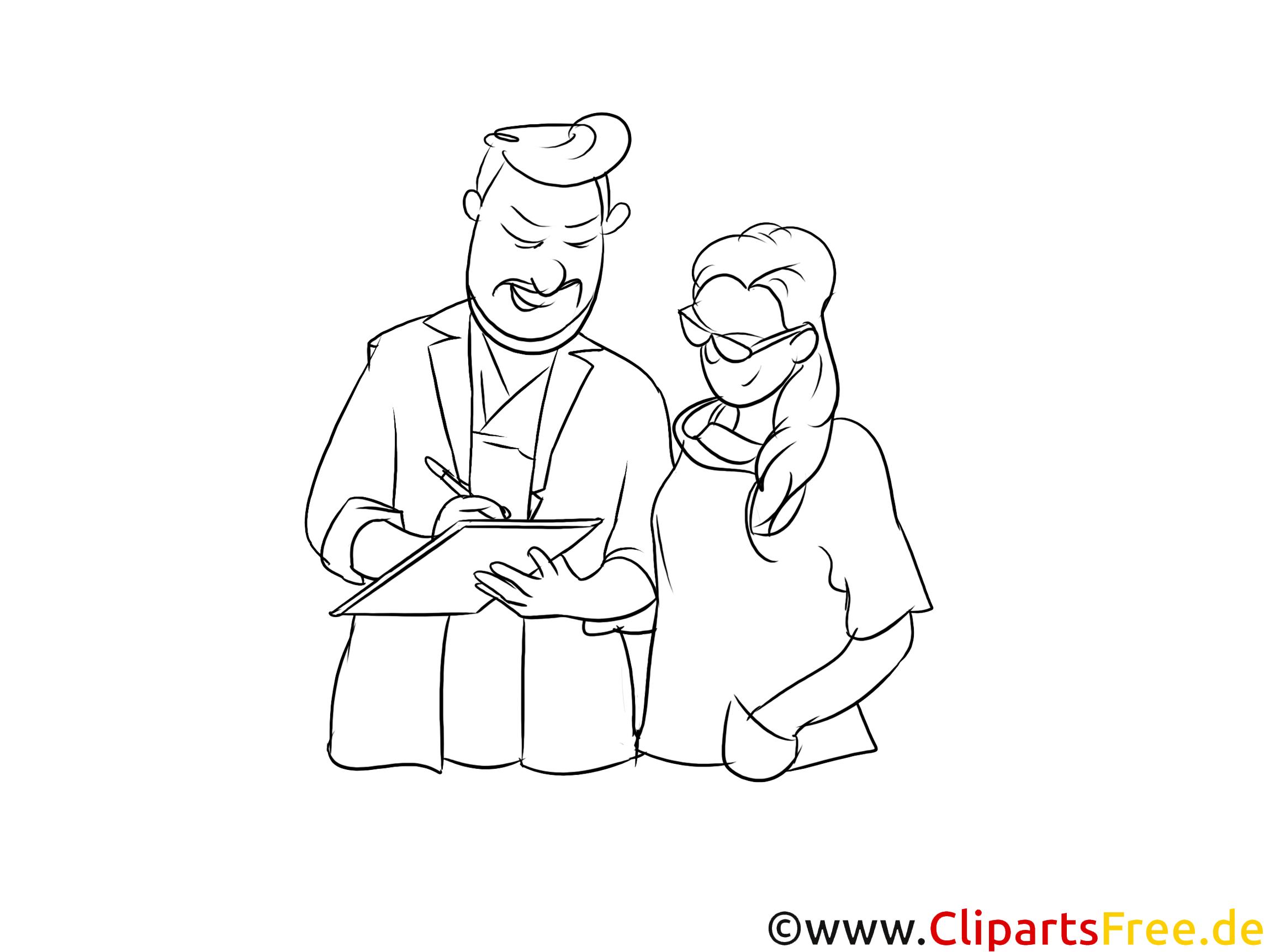 Medizinischer Fachangestellter schwarz-weiße Cliparts, Bilder, Grafiken