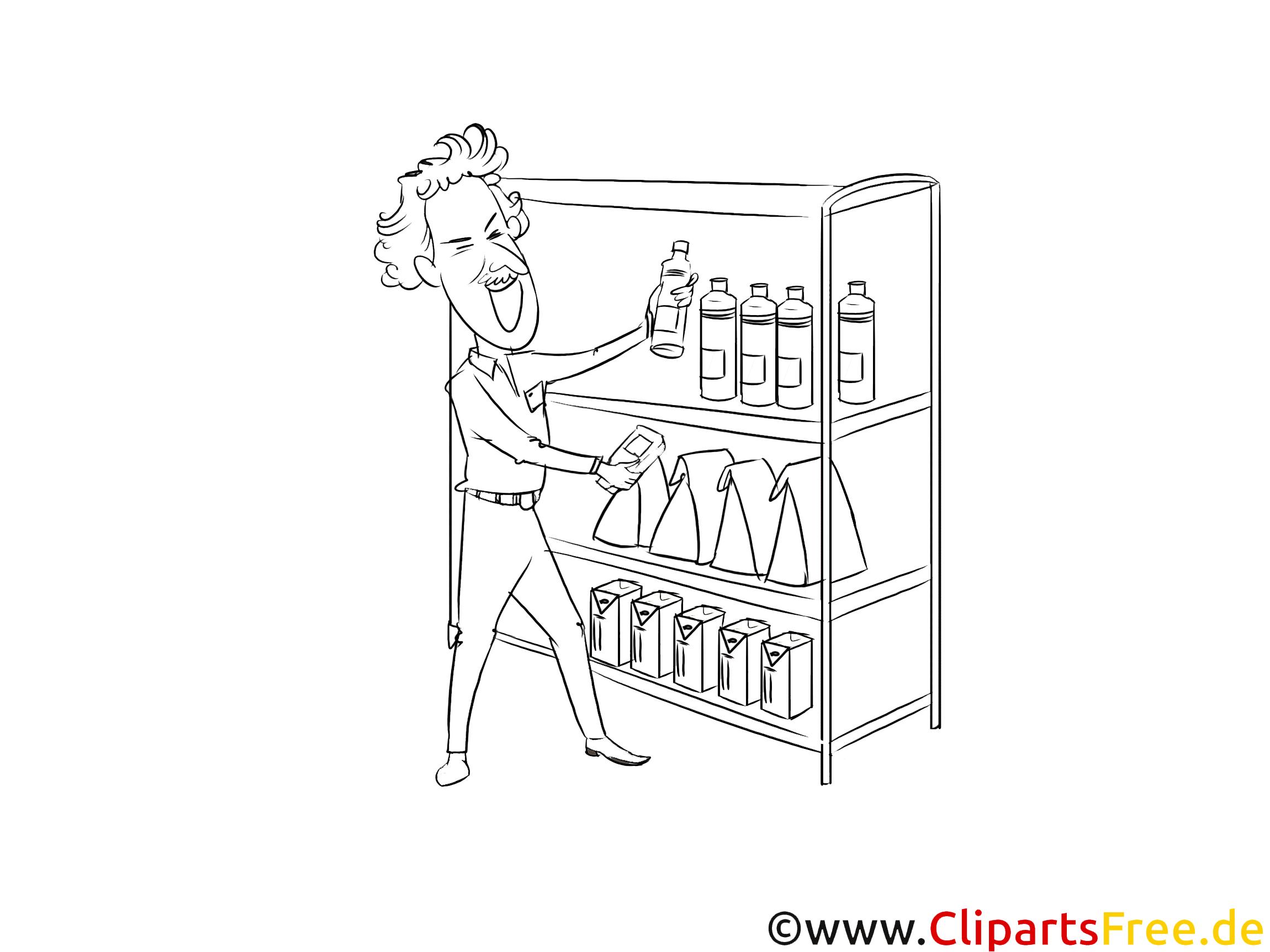 Schwarz-weiß Clipart Fachwirt für Vertrieb im Einzelhandel