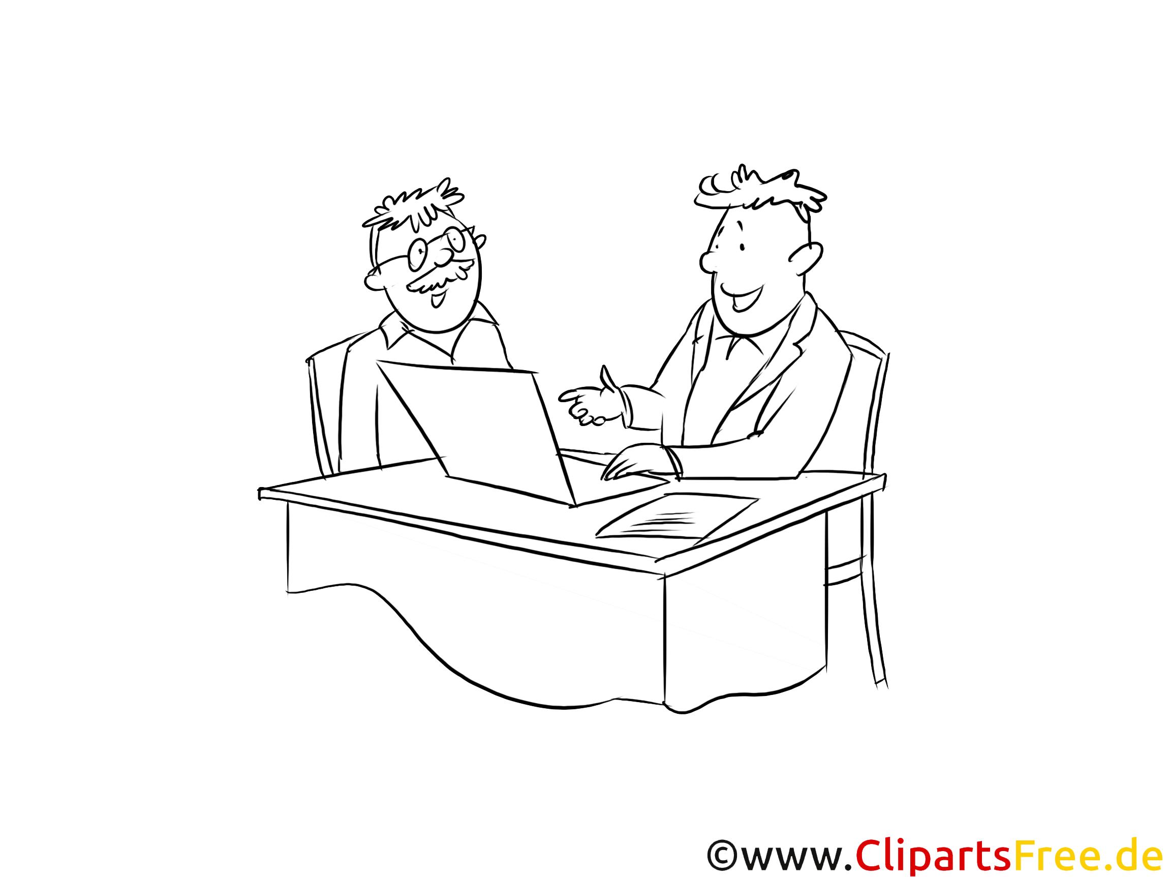Schwarzweiß Clipart Fachberater