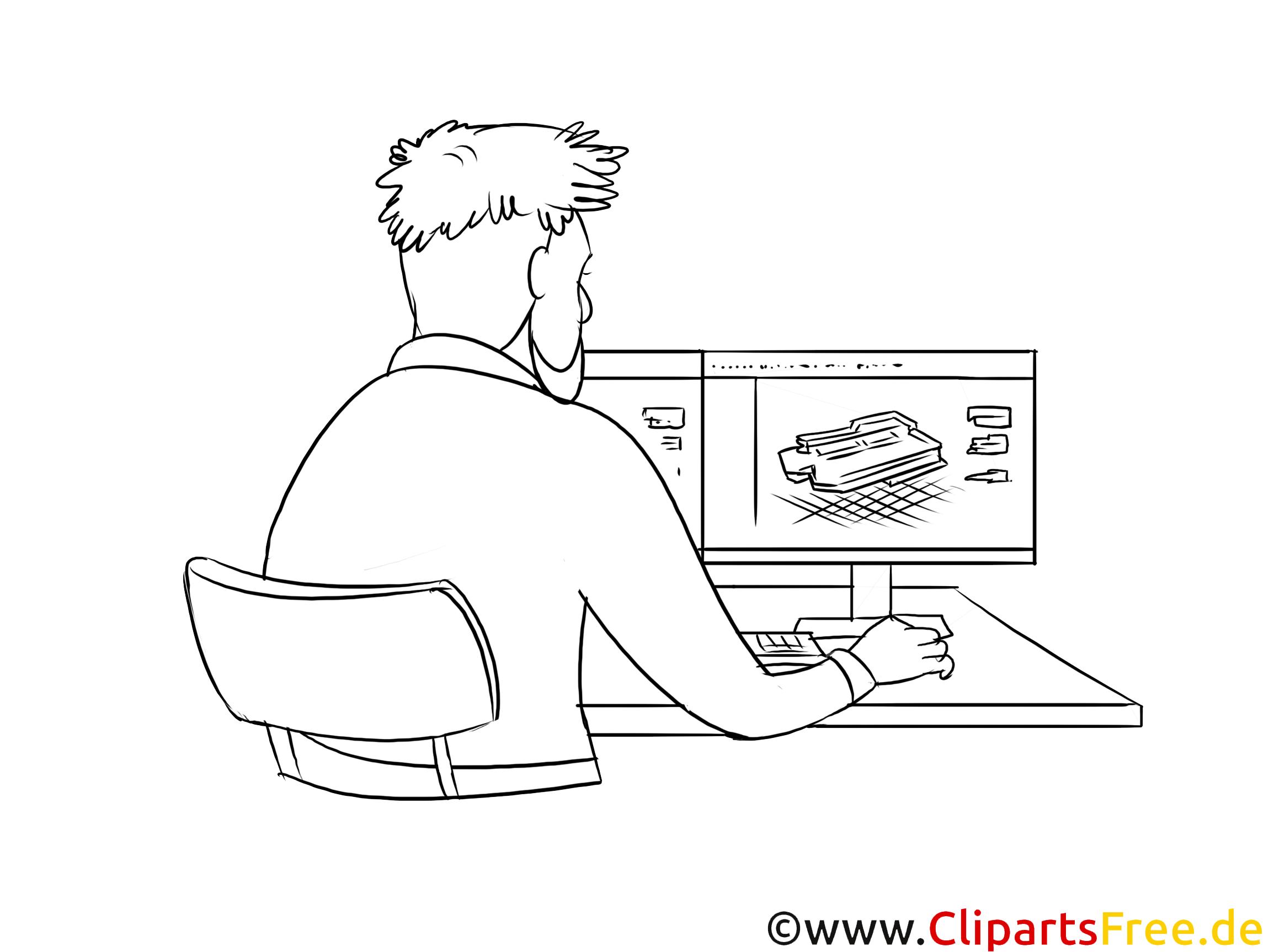 Technische Systemplaner druckbare schwarz-weiße Cliparts, Grafiken kostenlos