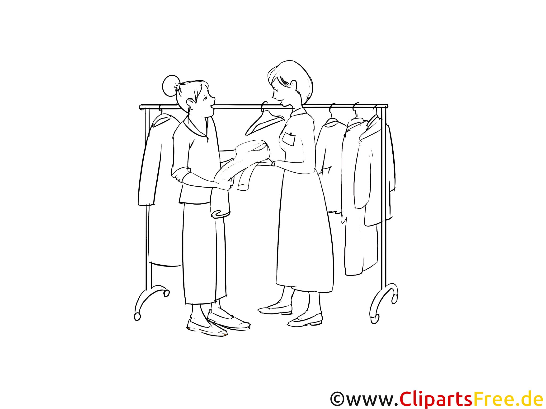 Verkäuferin im Einzelhandel Clipart-Bilder für Präsentationen