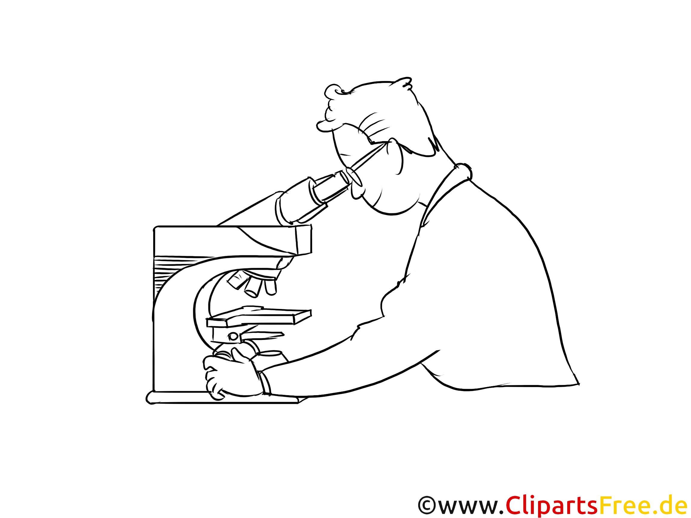 Werkstoffprüfer schwarz-weiße Cliparts, Bilder, Grafiken
