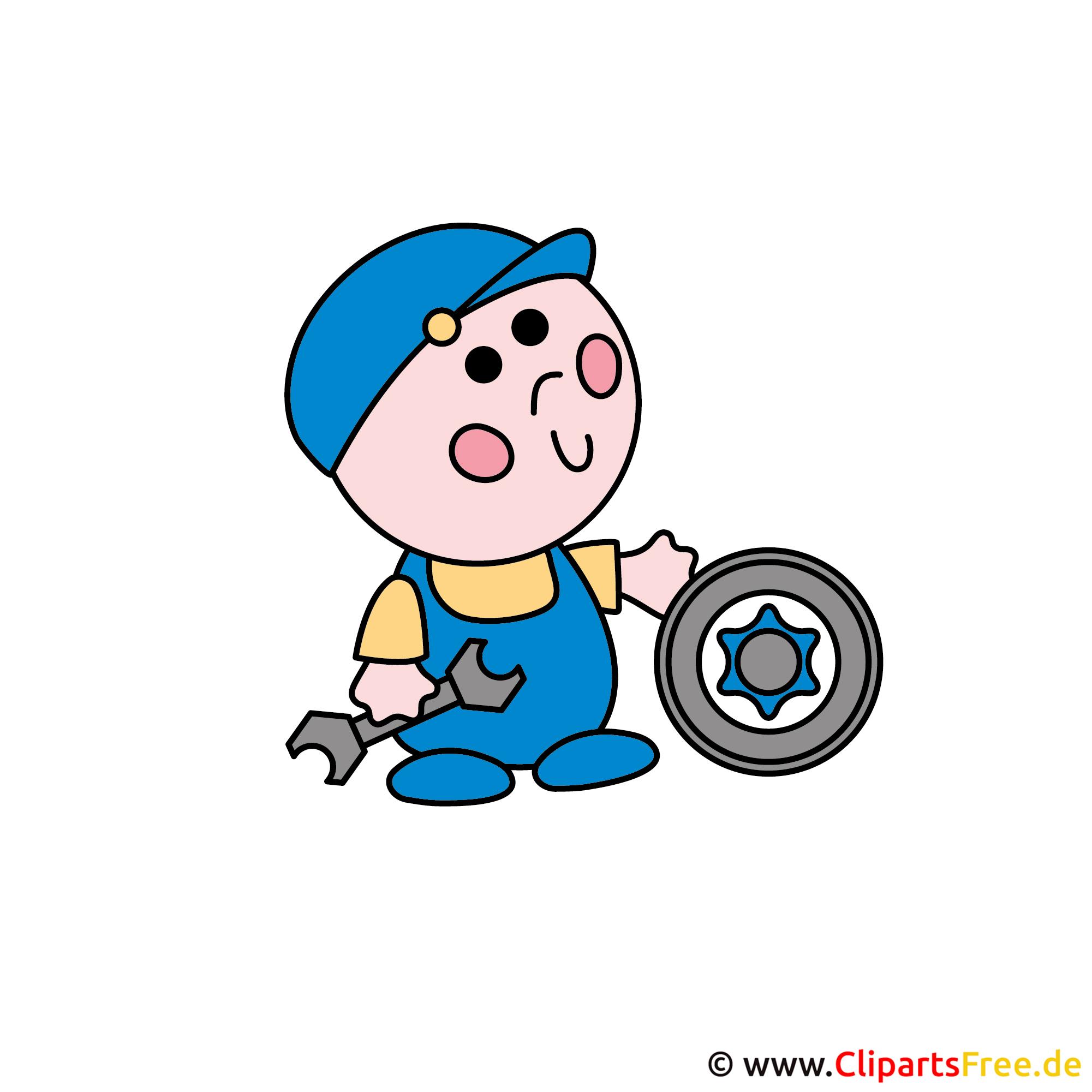 Auto Werkstatt Clipart Bild kostenlos