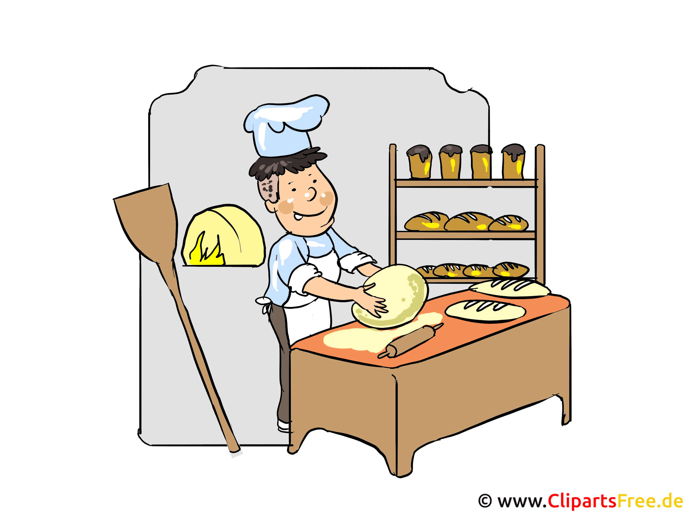 Bäcker Clipart, Bild, Cartoon, Illustration kostenlos