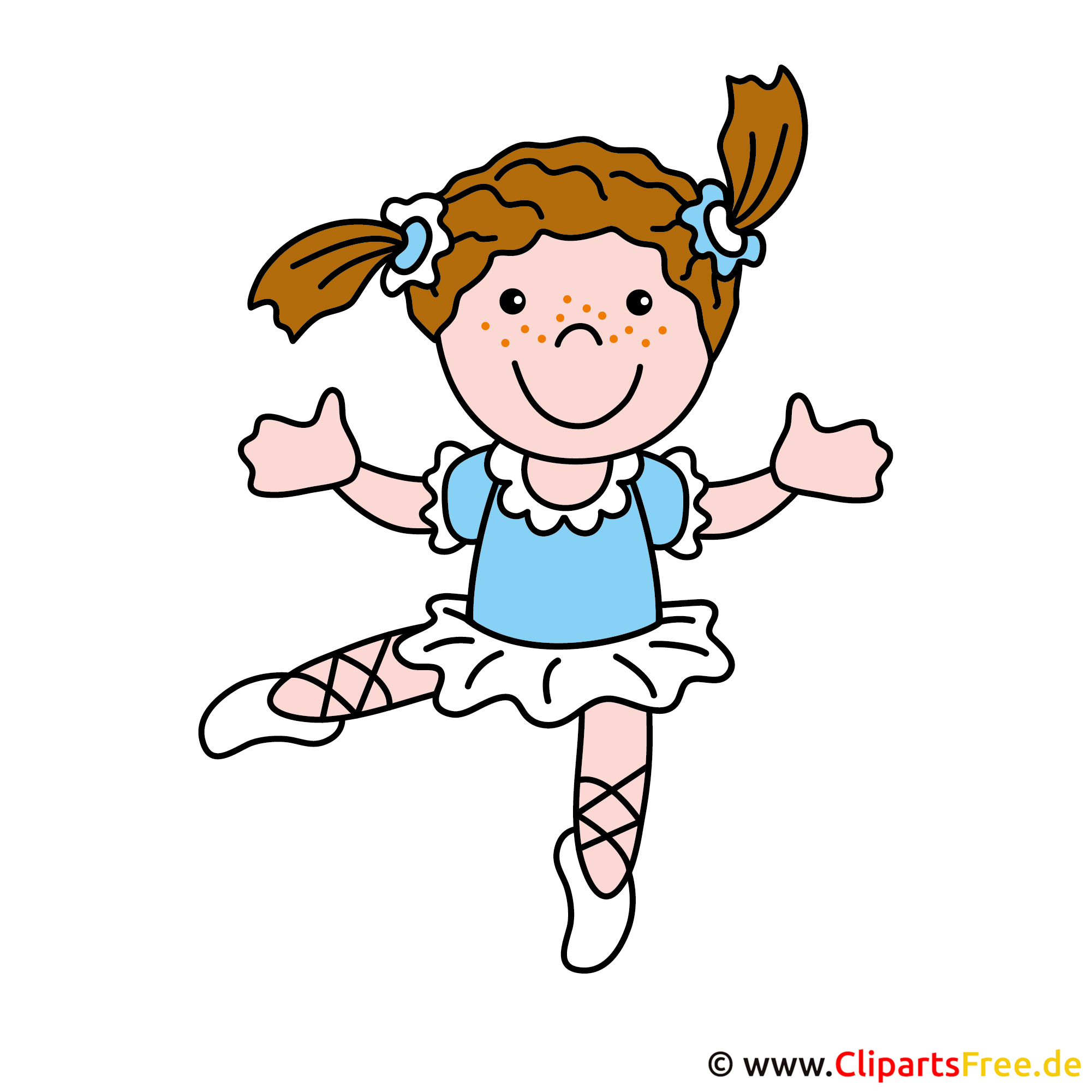 Ballerina Bild, Cartoon, Clipart free