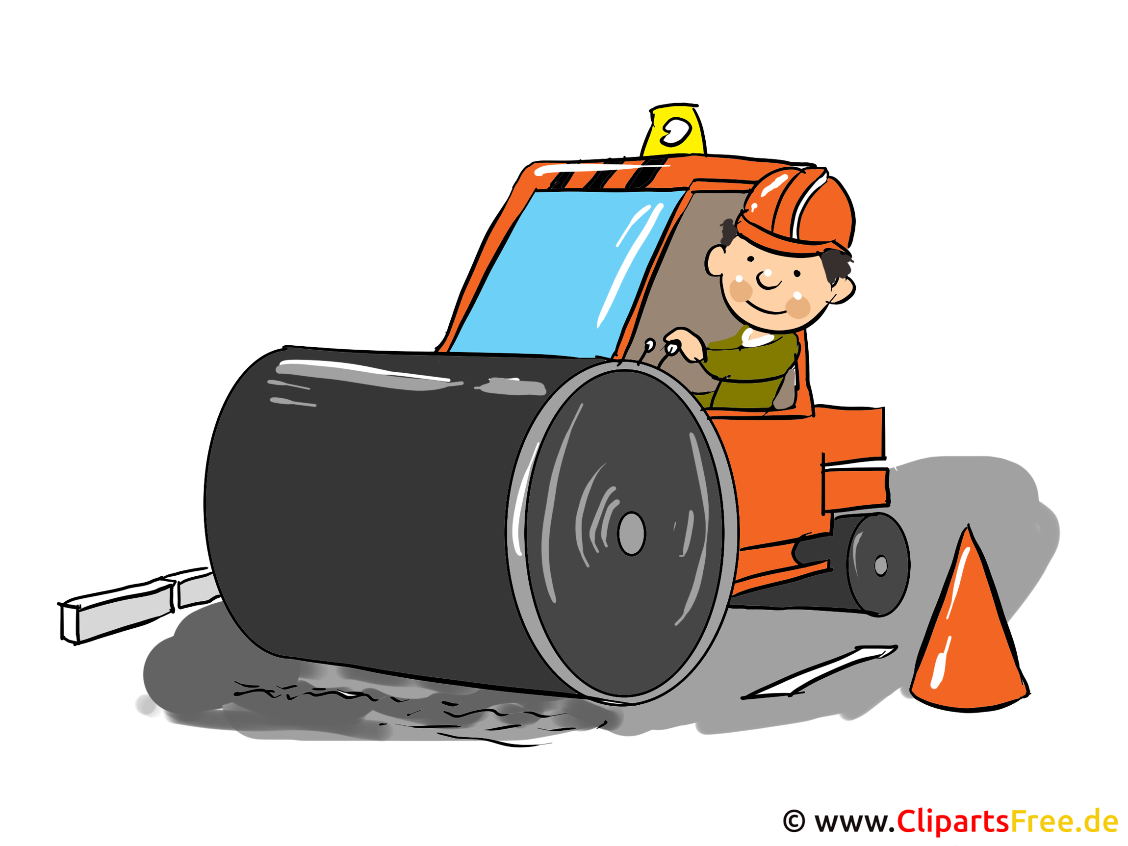 Baustelle Clipart, Cartoon, Bild, Illustration gratis