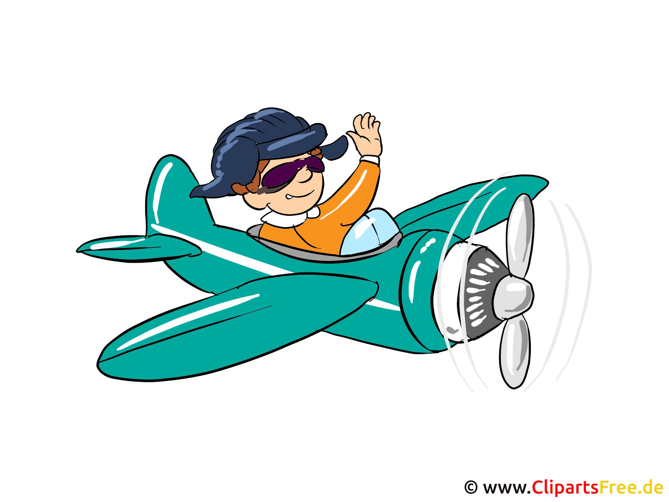 Bilder von Berufen - Pilot Clipart-Bild