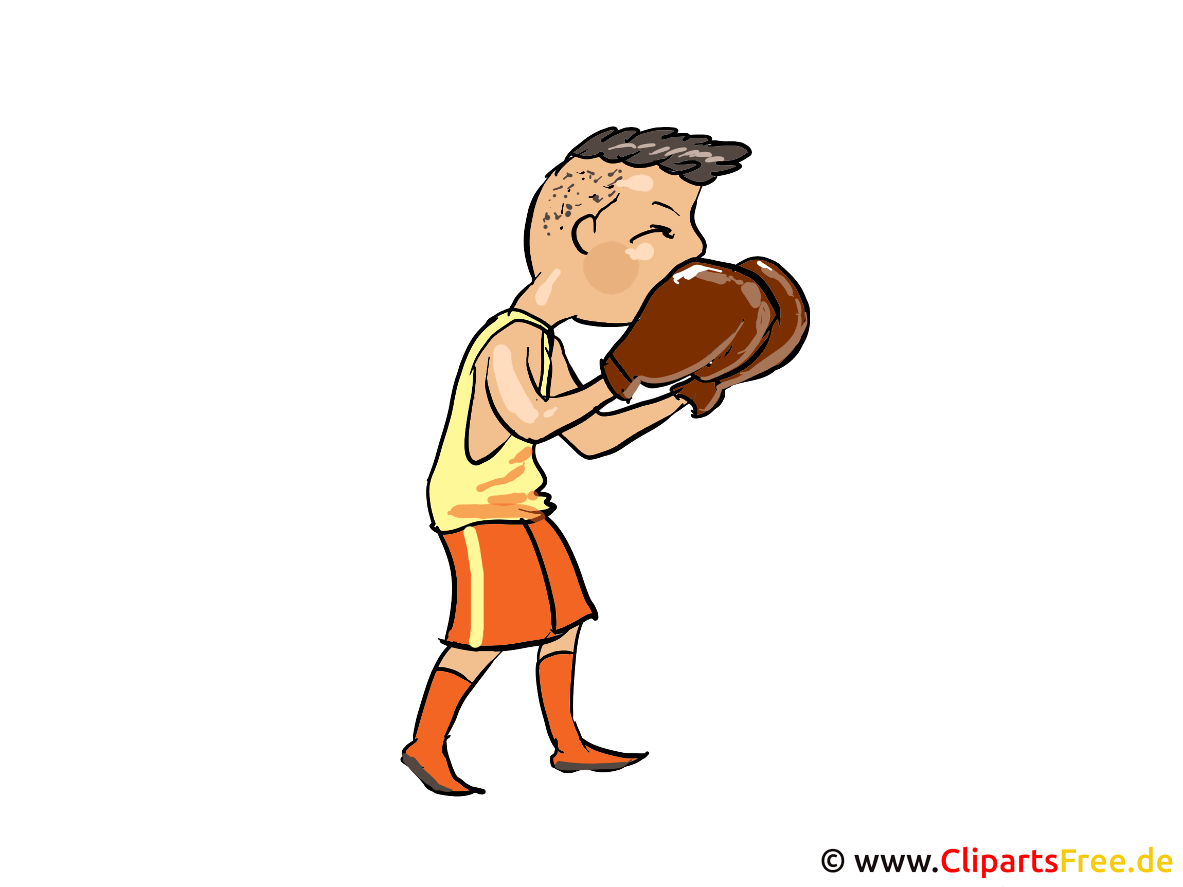Boxer, Training, Boxstellung Bild, Clipart, Cartoon