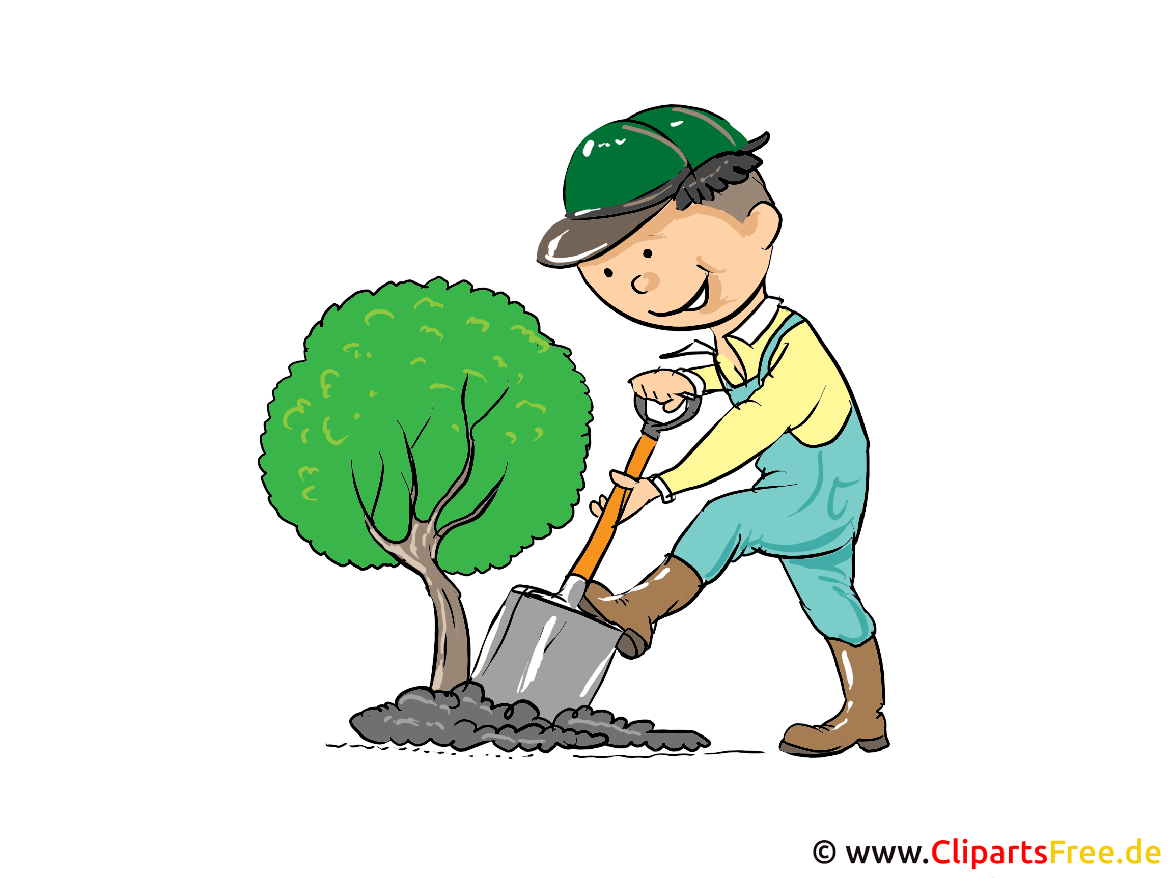 Clipart Gärtner kostenlos zum Drucken
