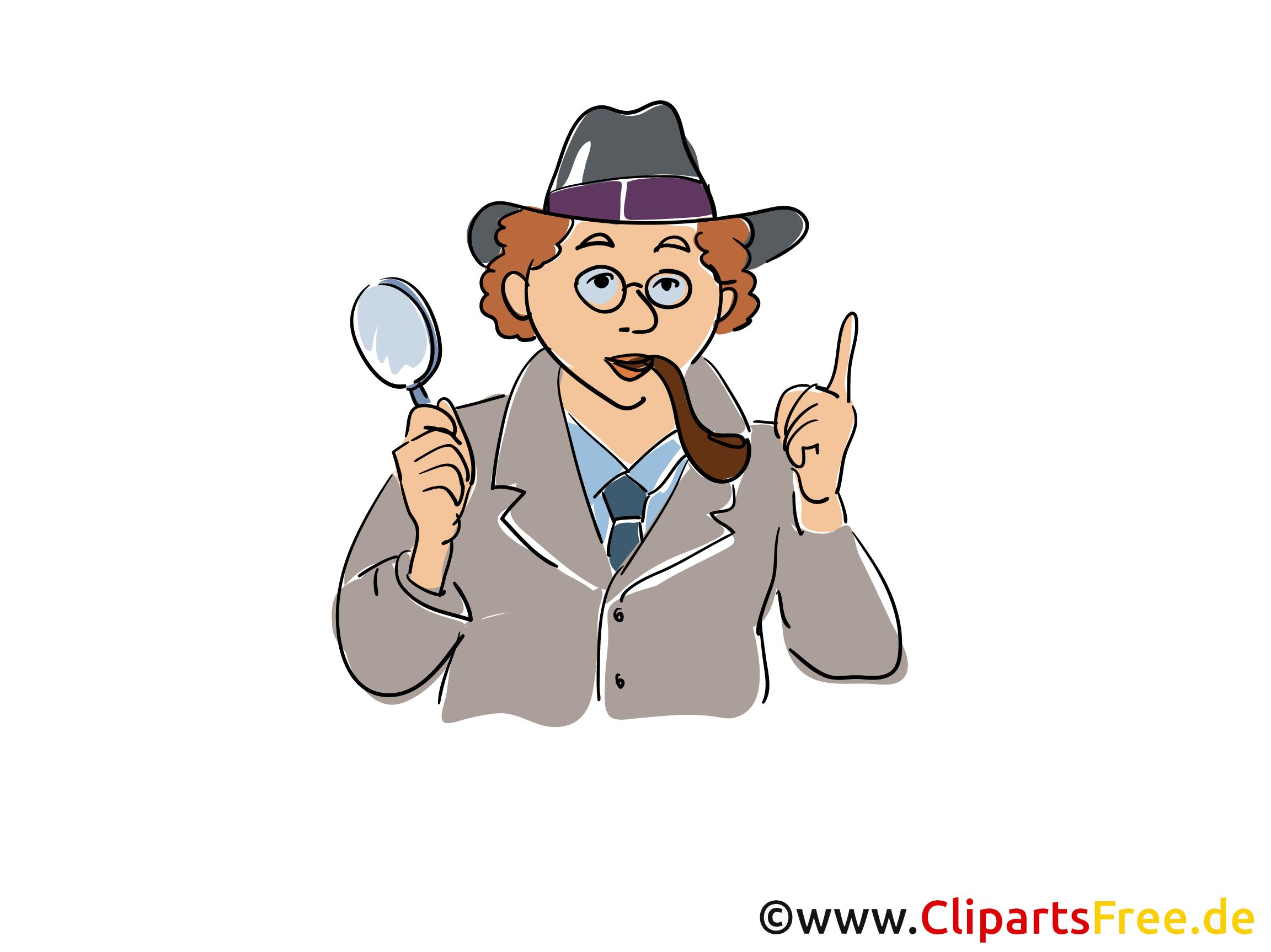 Detektiv Comic-Zeichnung