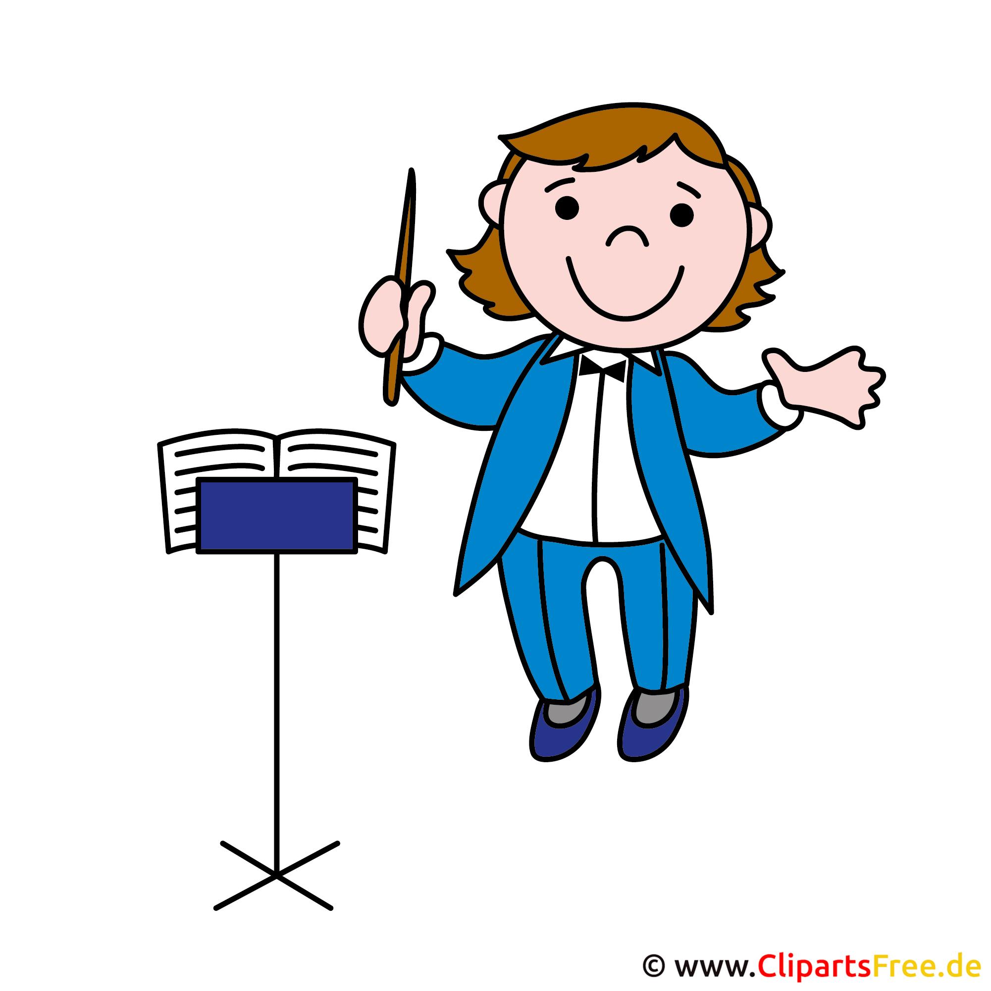 Dirigent, Musiker Clipart-Bild - Berufe Bilder