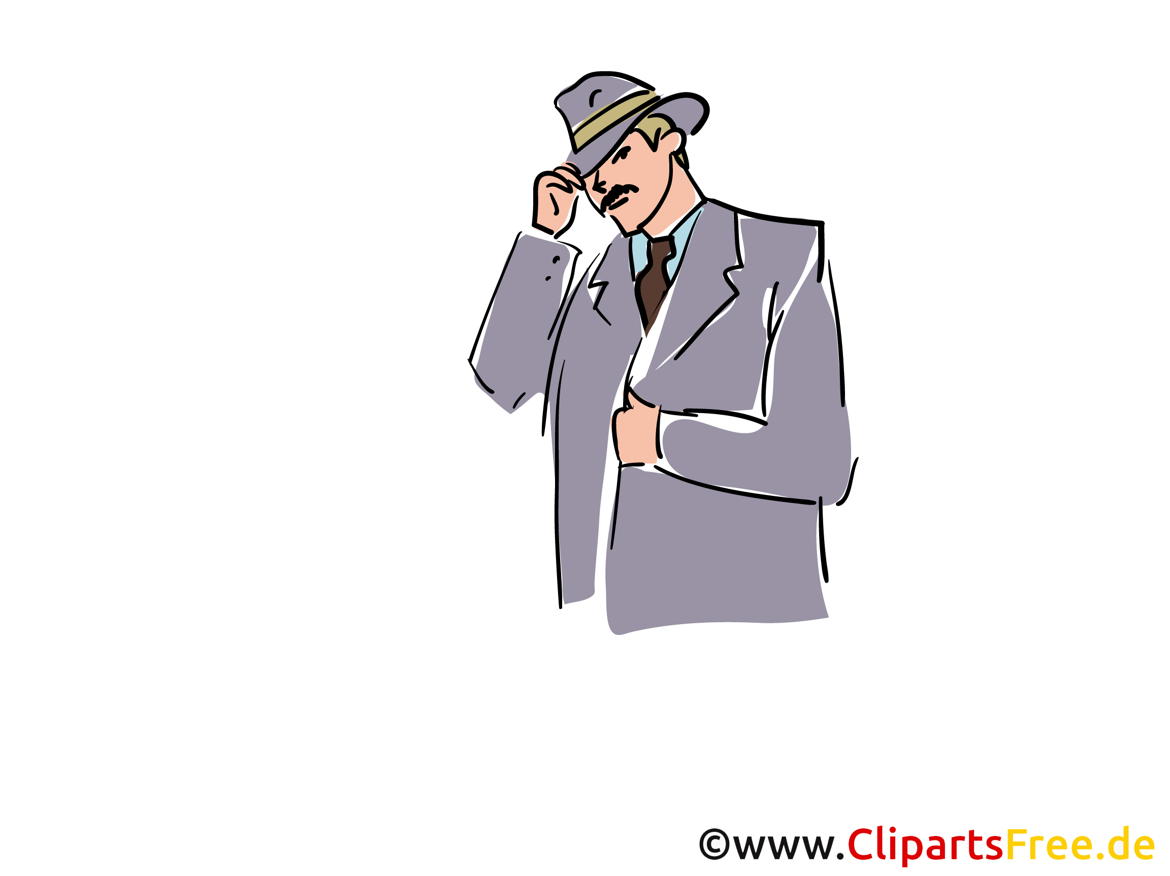 Ermittler Clipart, Stock Illustration, Grafik, Bild