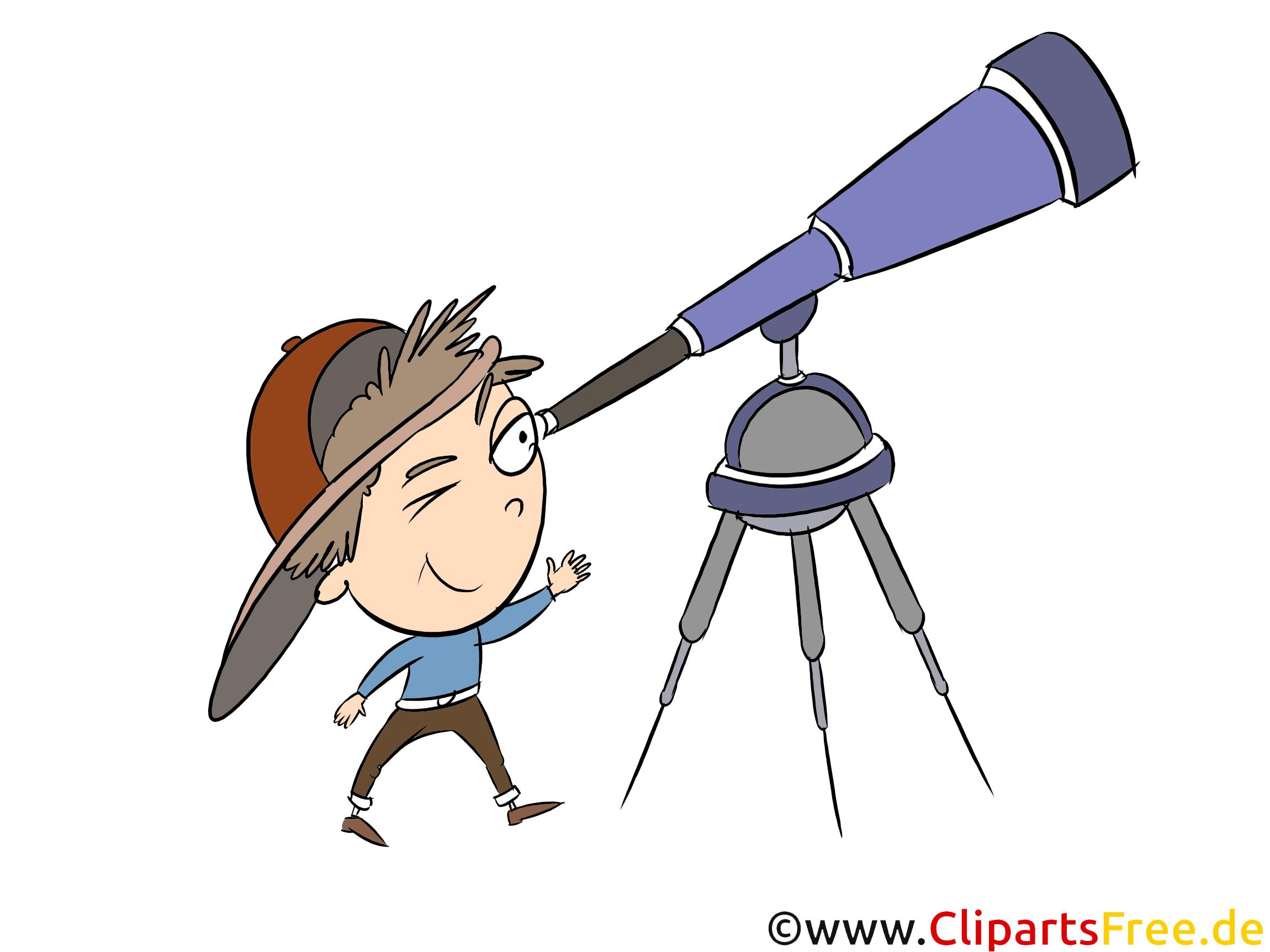 Fernrohr, Teleskop Clipart, Bild, Grafik