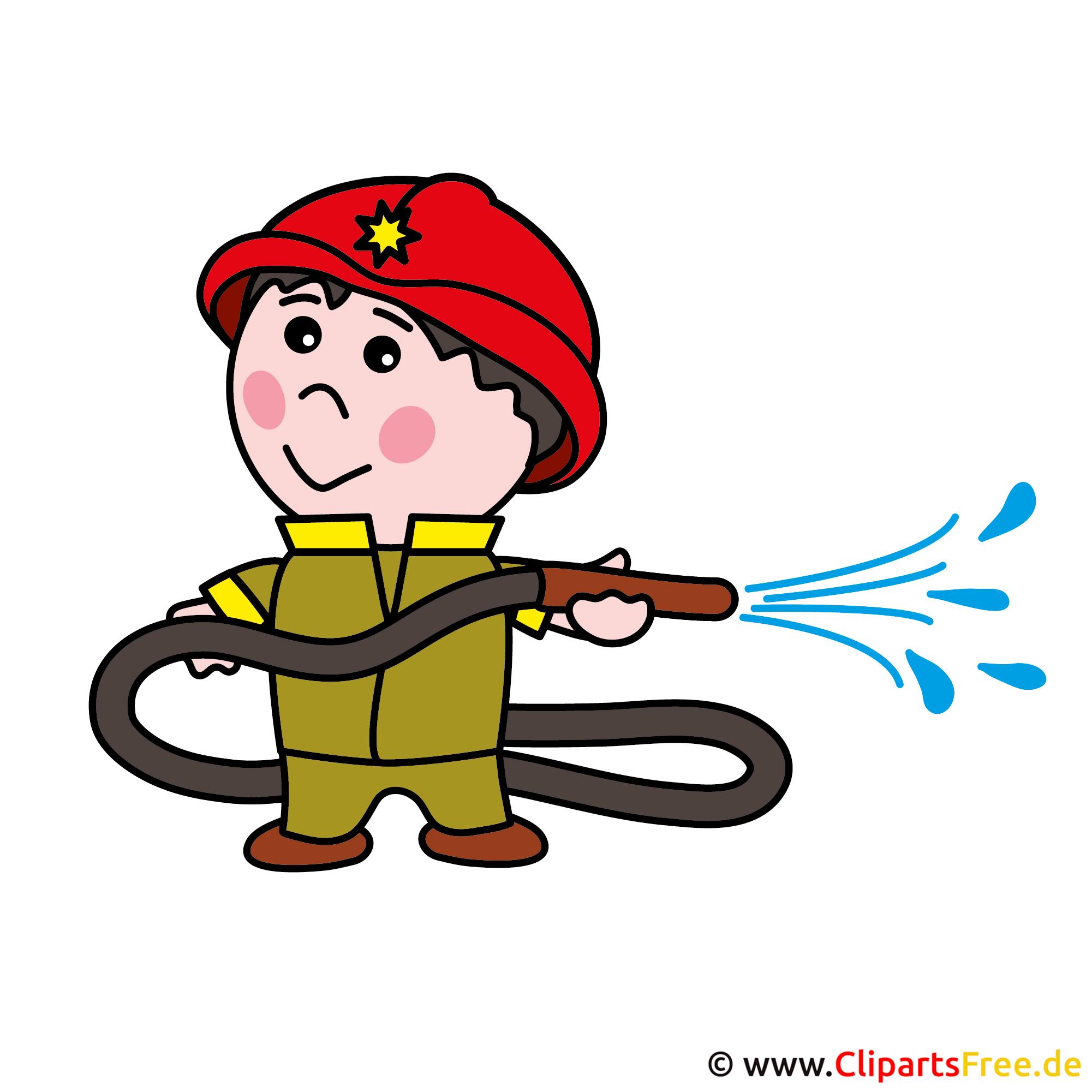 Feuerwehrmann Cartoon Bild kostenlos