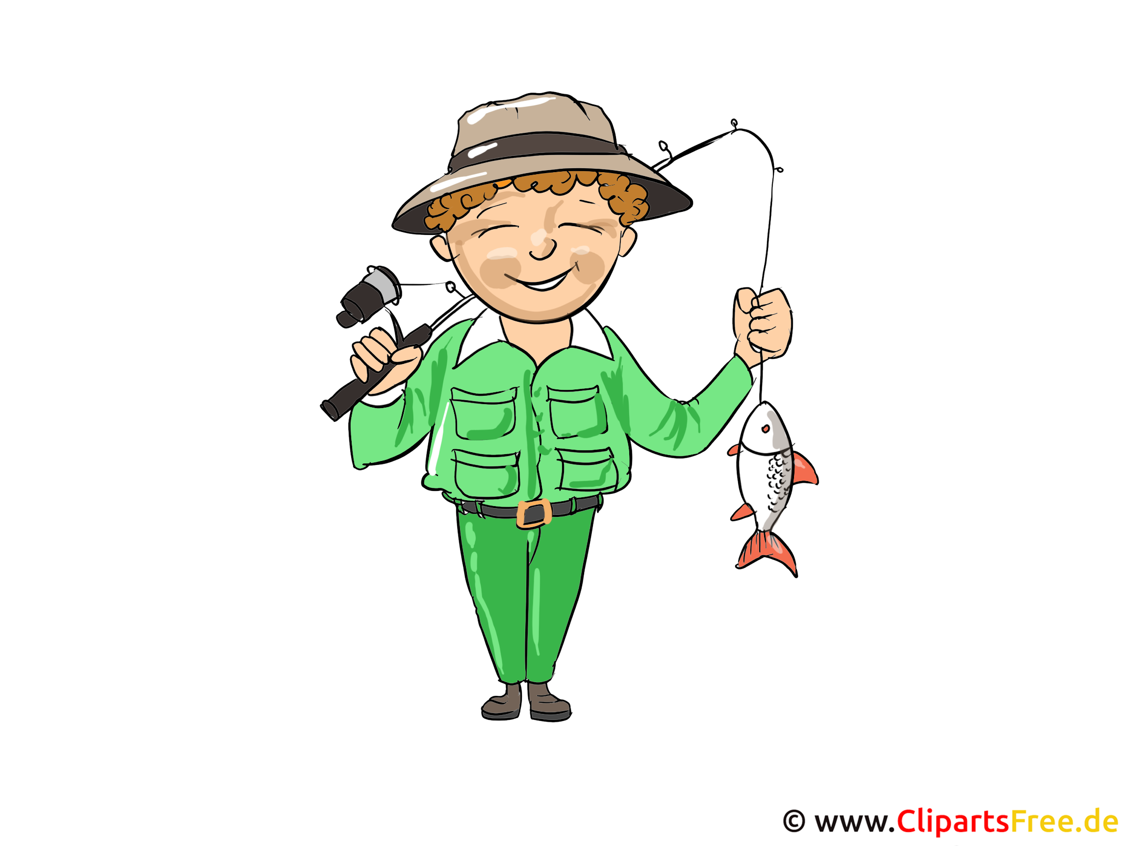 Fischer Clipart, Bild, Cartoon, Illustration kostenlos