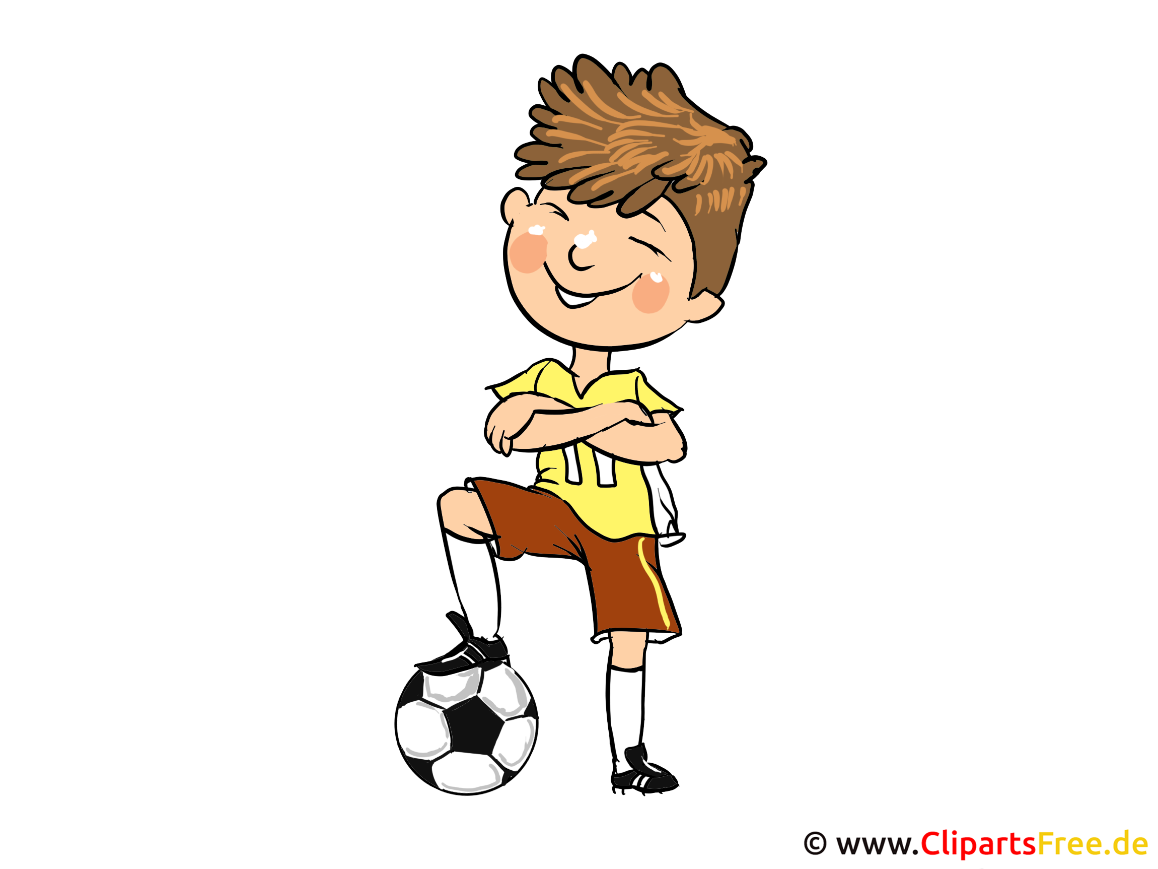 Fussballer Bild, Clipart, Cartoon, Image, Illustration