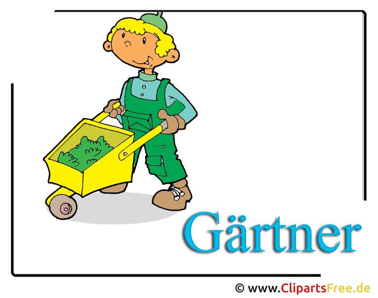 Gärtner Clipart free - Berufe Bilder kostenlos