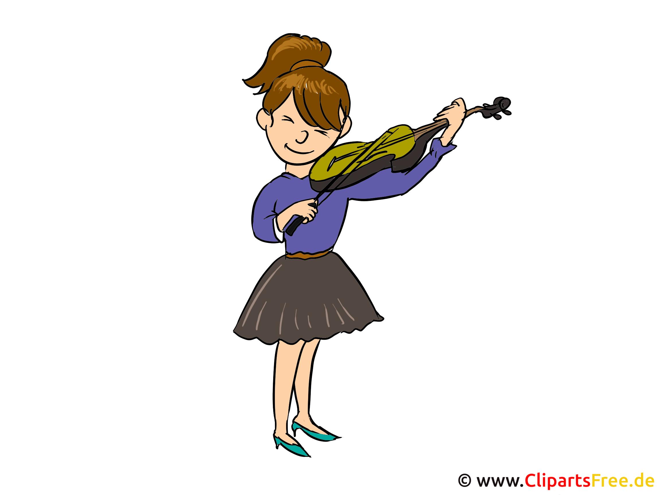 Geige spielen Clipart, Bild, Cartoon, Illustration kostenlos
