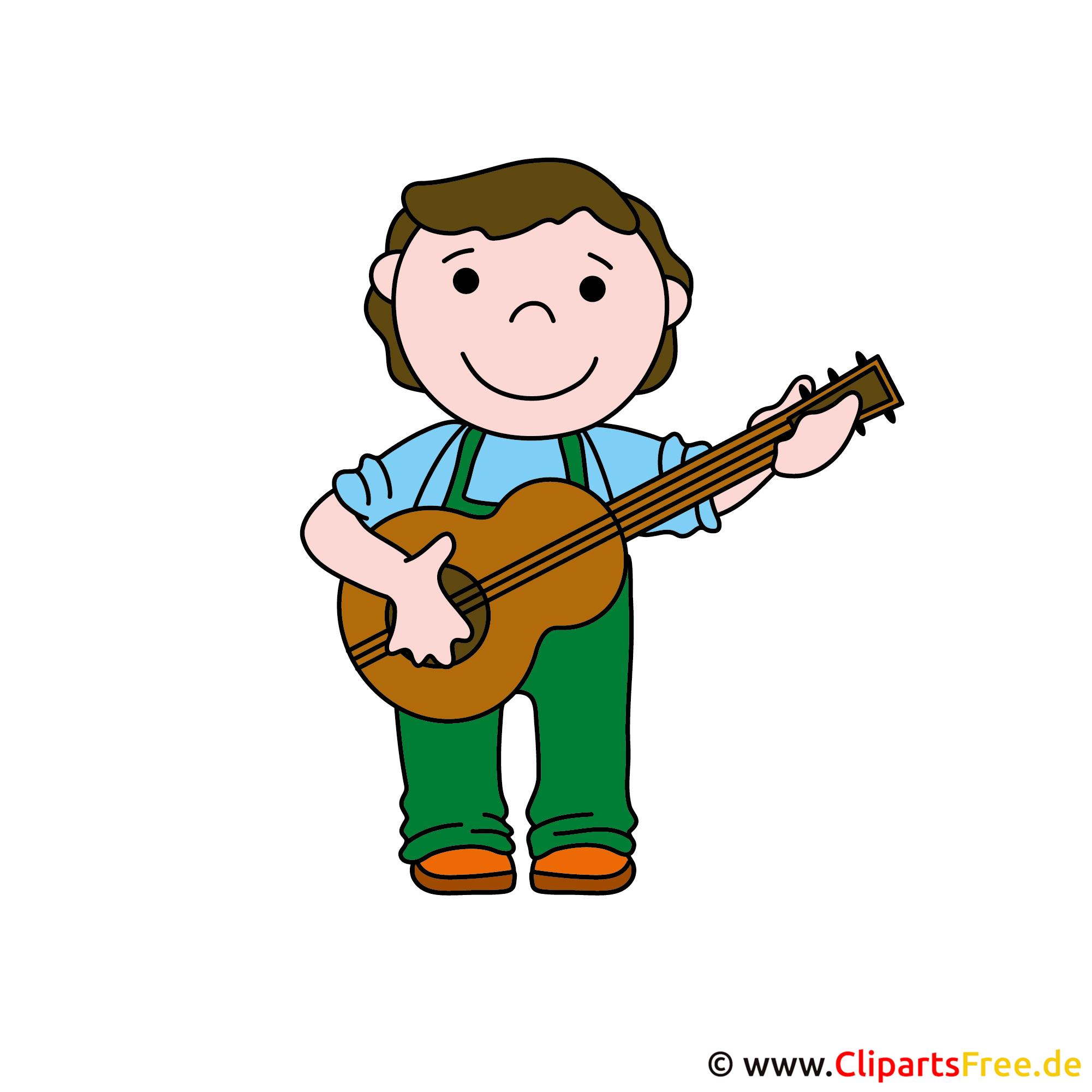Gitarrist, Gitarrespieler Bild Clipart kostenlos