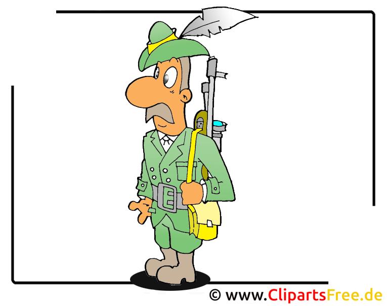 Jäger Clipart free - Berufe Bilder kostenlos