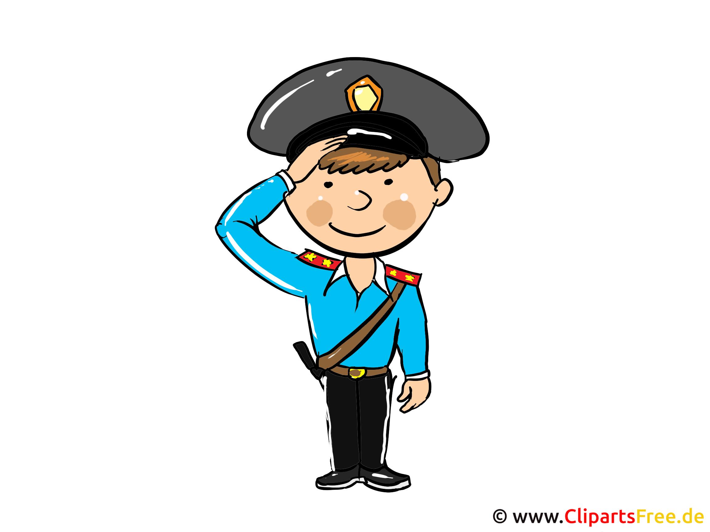 Polizist Clipart, Bild, Cartoon, Illustration kostenlos