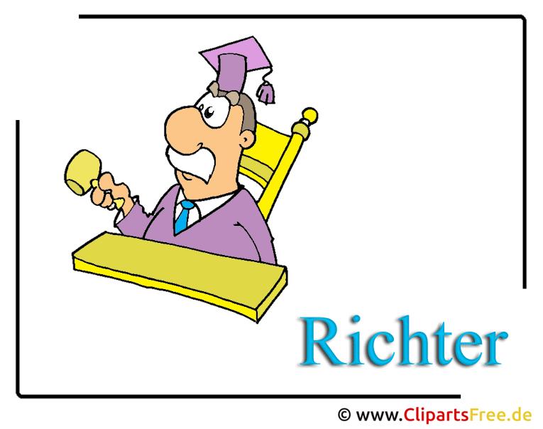 Richter Cartoon-Clipart-Bild kostenlos