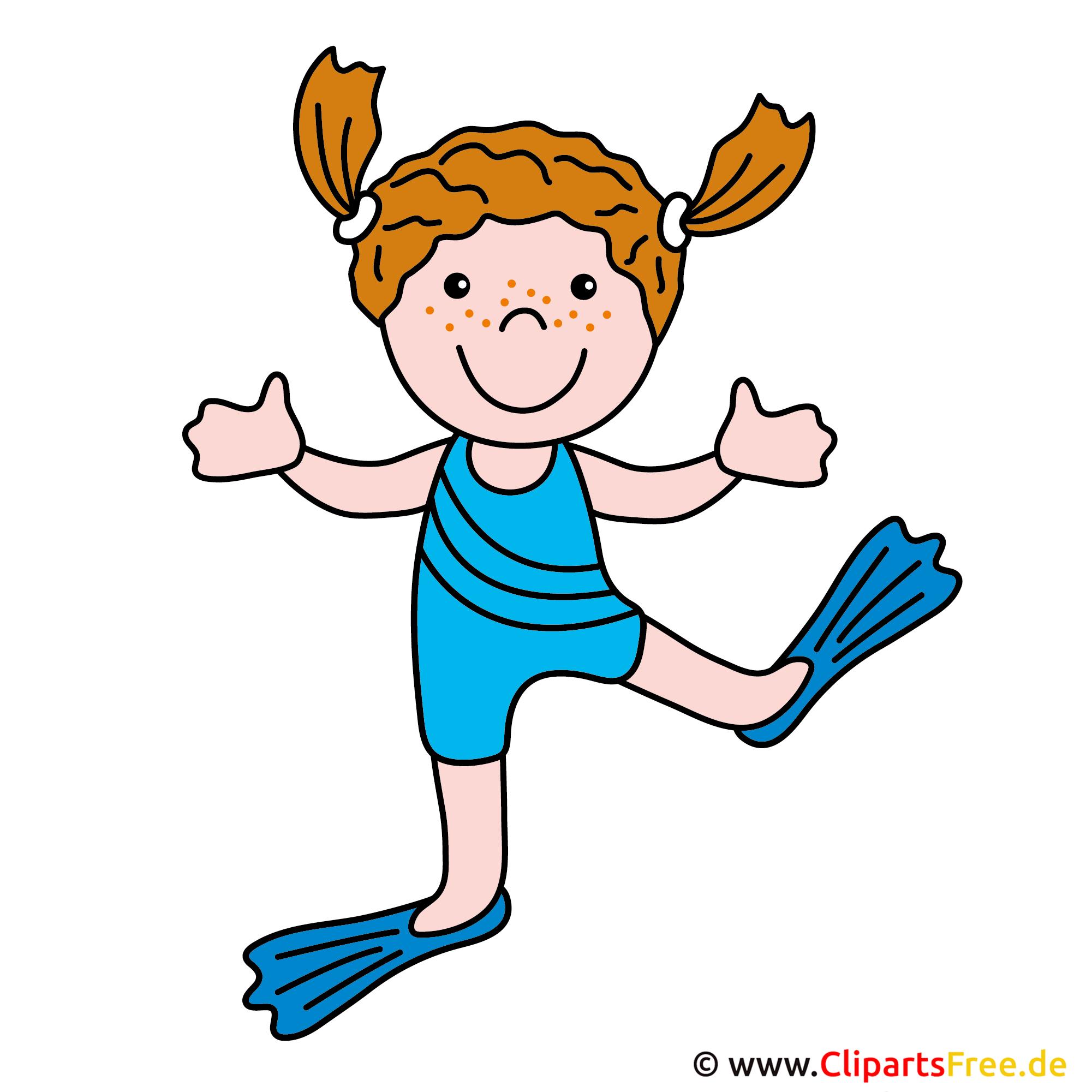 Schwimmbad comic kinder  Schwimmen Clipart Bild gratis