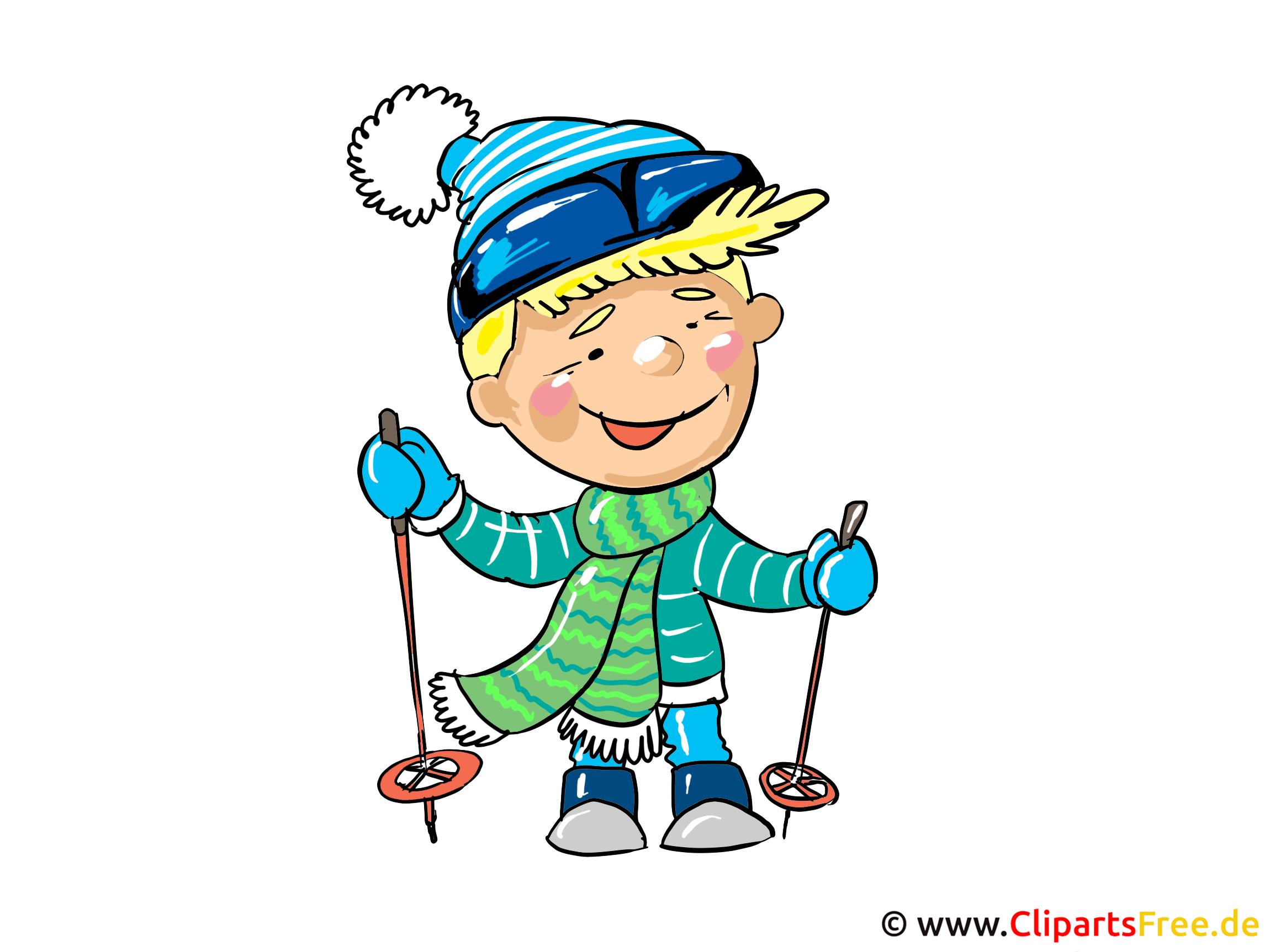 Skifahrer Clipart, Bild, Cartoon, Illustration kostenlos  Skifahrer Clipa...
