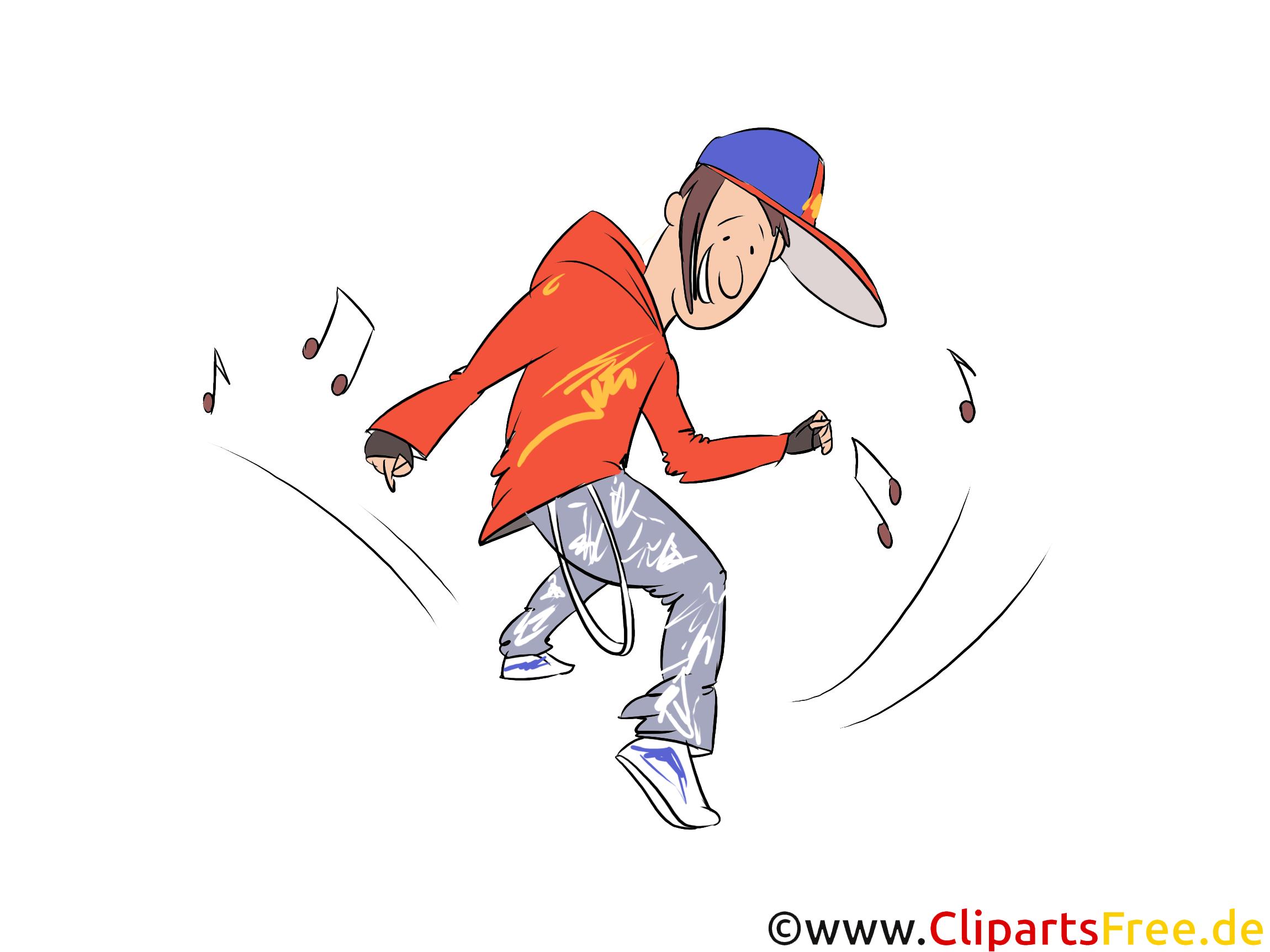 Brake Dance Illustration, Clip Art
